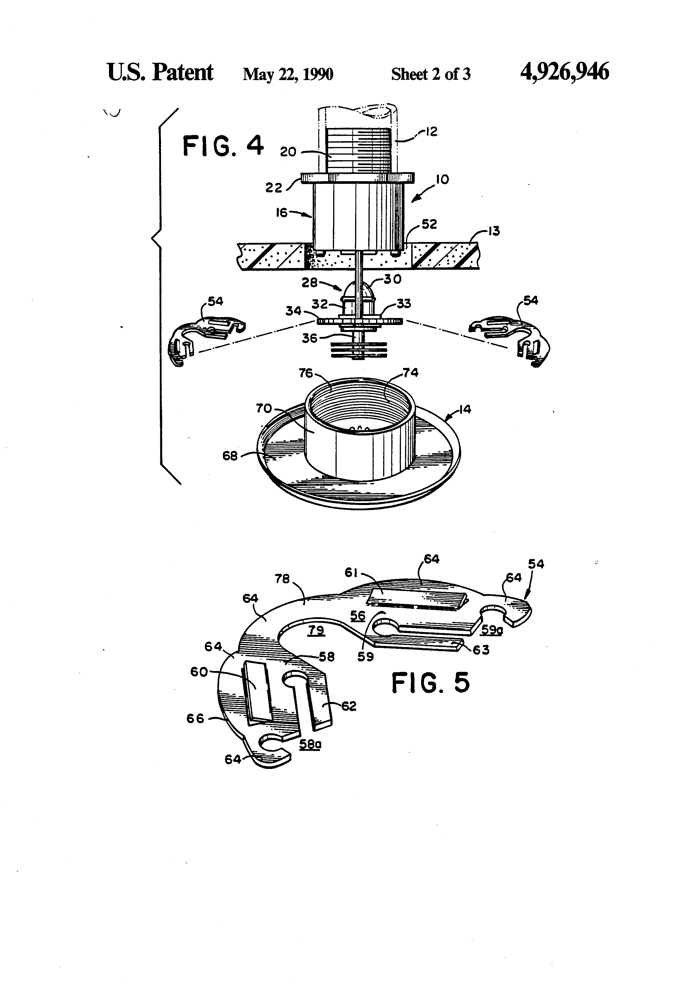 Patent Us4926946 Pendent Style Sprinkler With Cover