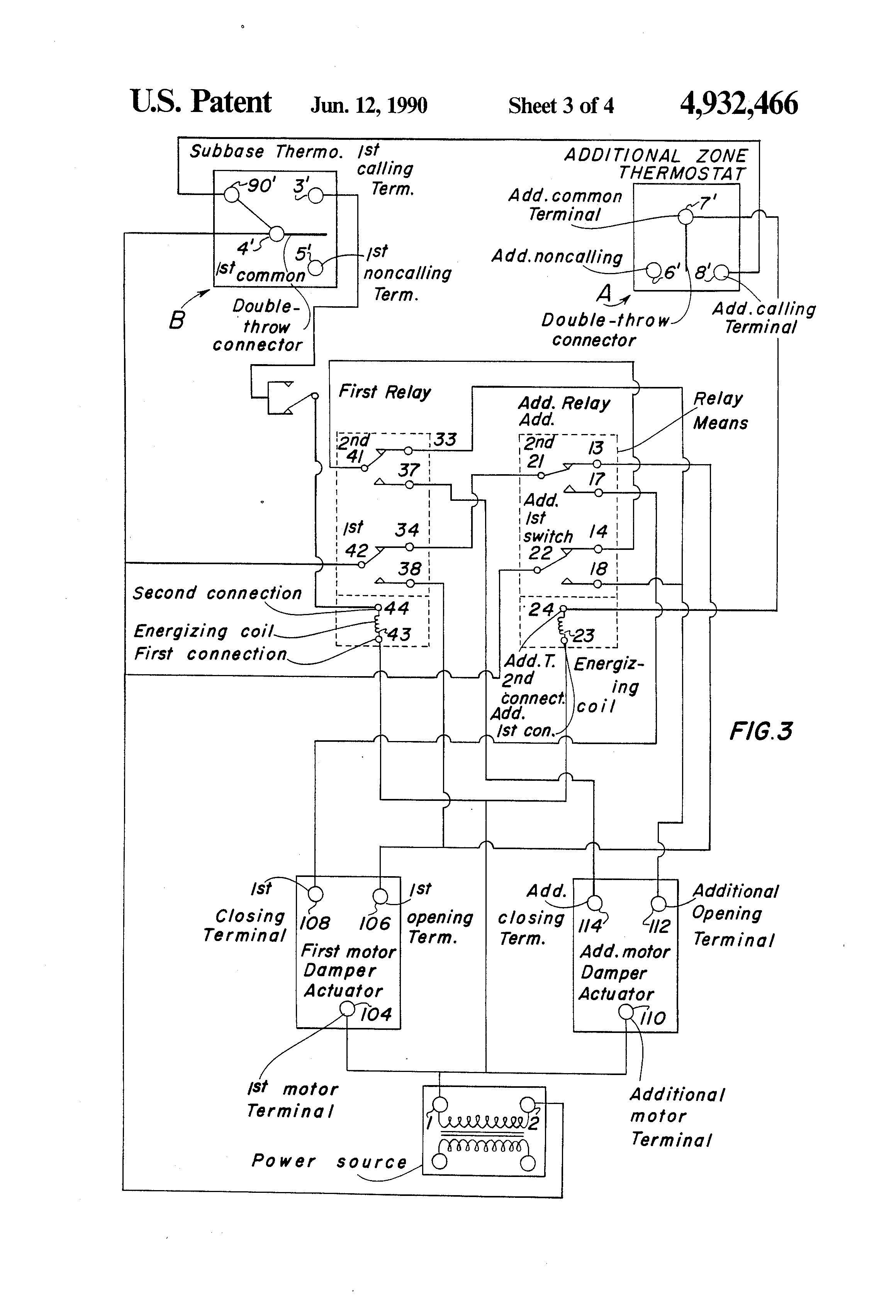 Us4932466 Relay Panel And System For Controlling Common Terminal On Patent Drawing