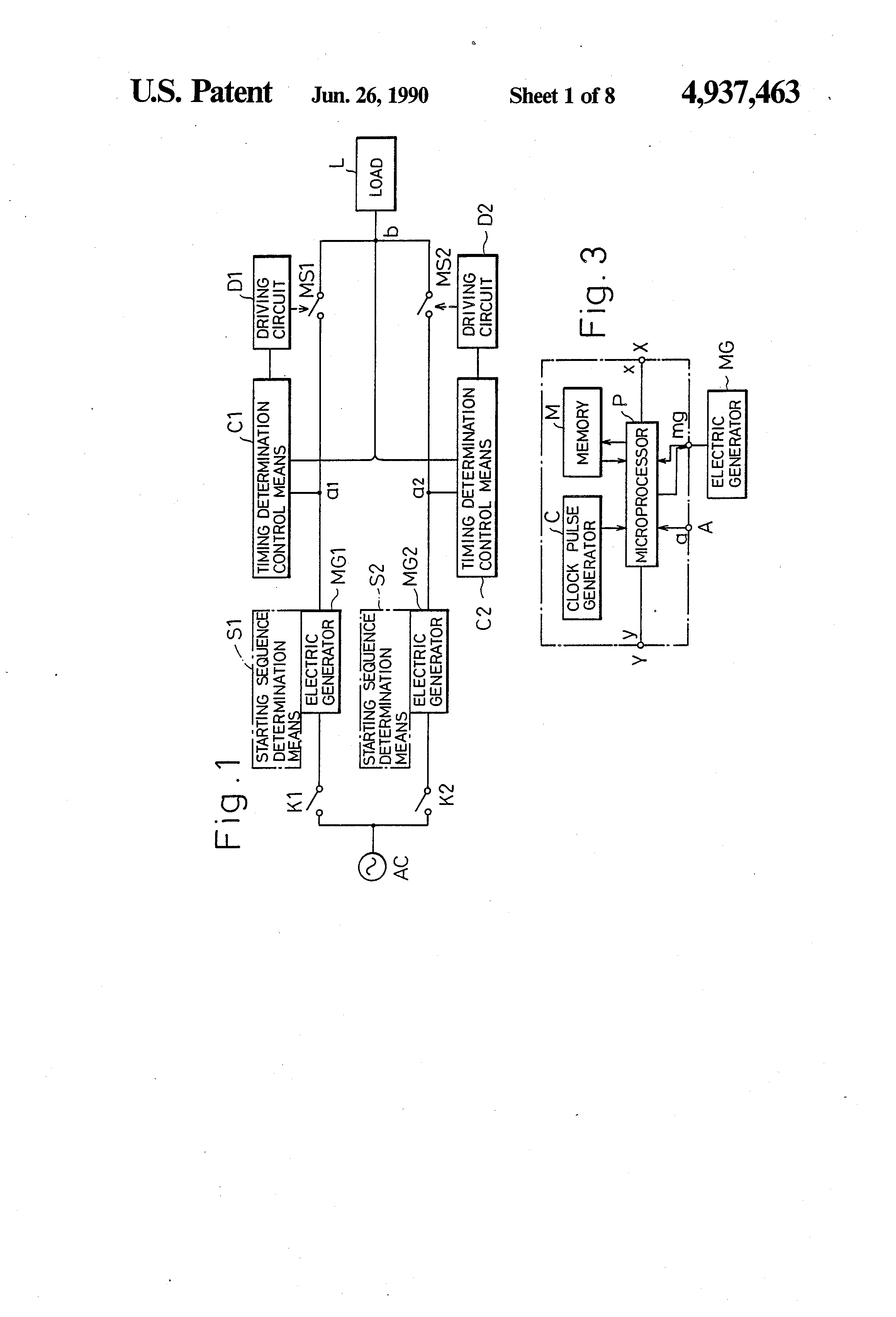 Patent Us4937463 Flat Frequency Constant Voltage Power Source Ac Generator Wiring Diagram Drawing