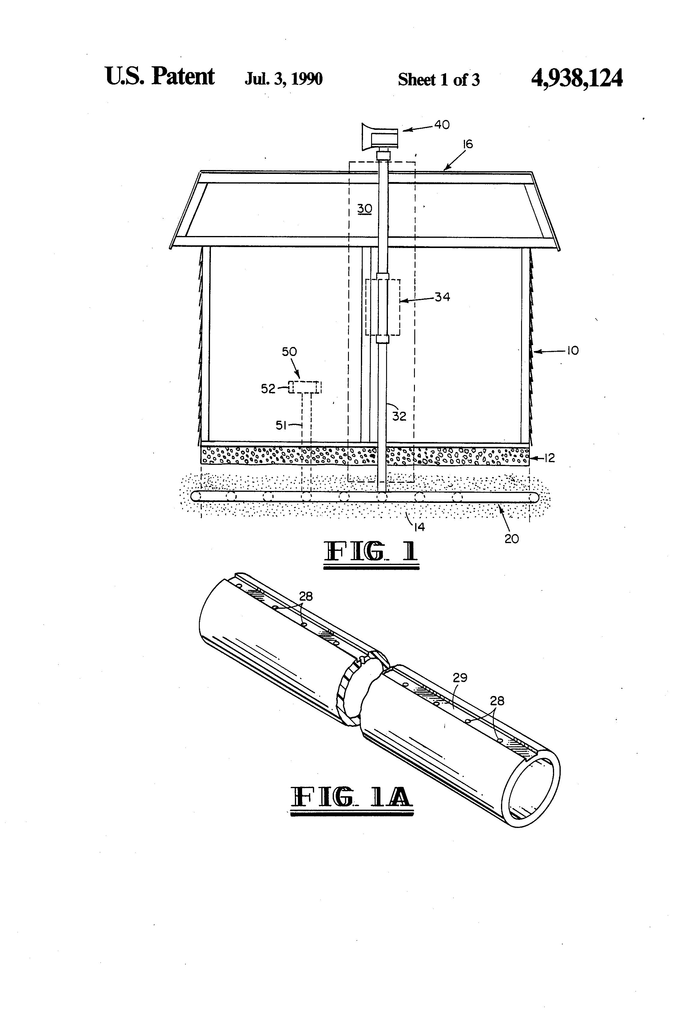 Patent Us4938124 Substructure Radon Gas Evacuation