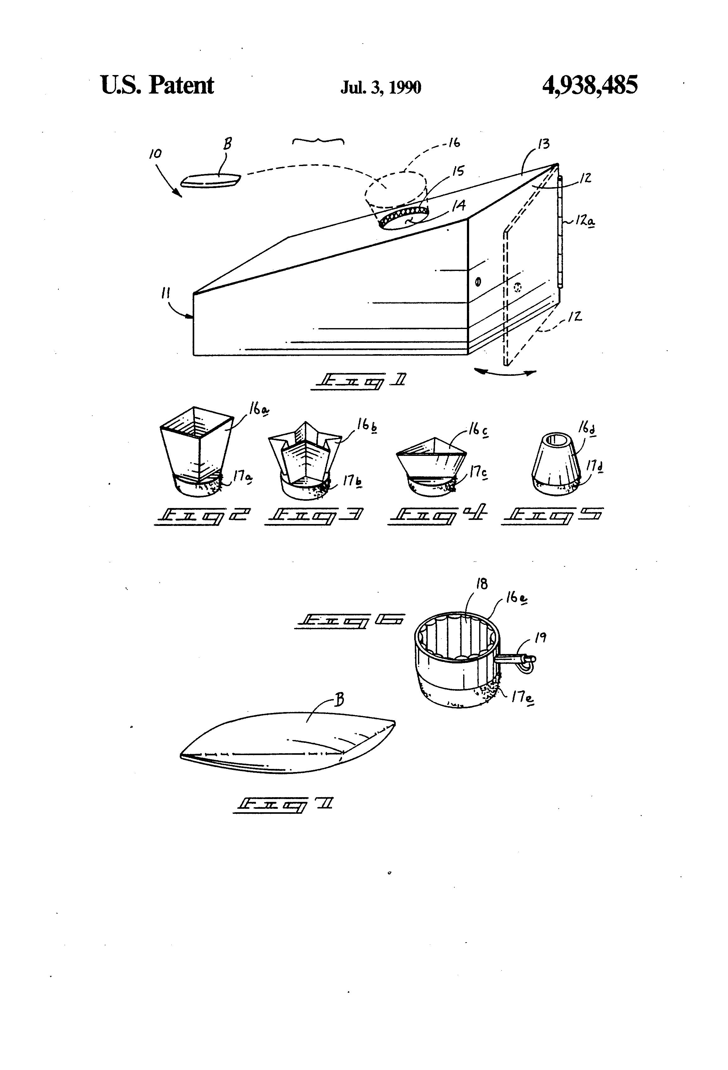 Patent Us4938485 Bean Bag Toss Game Google Patents