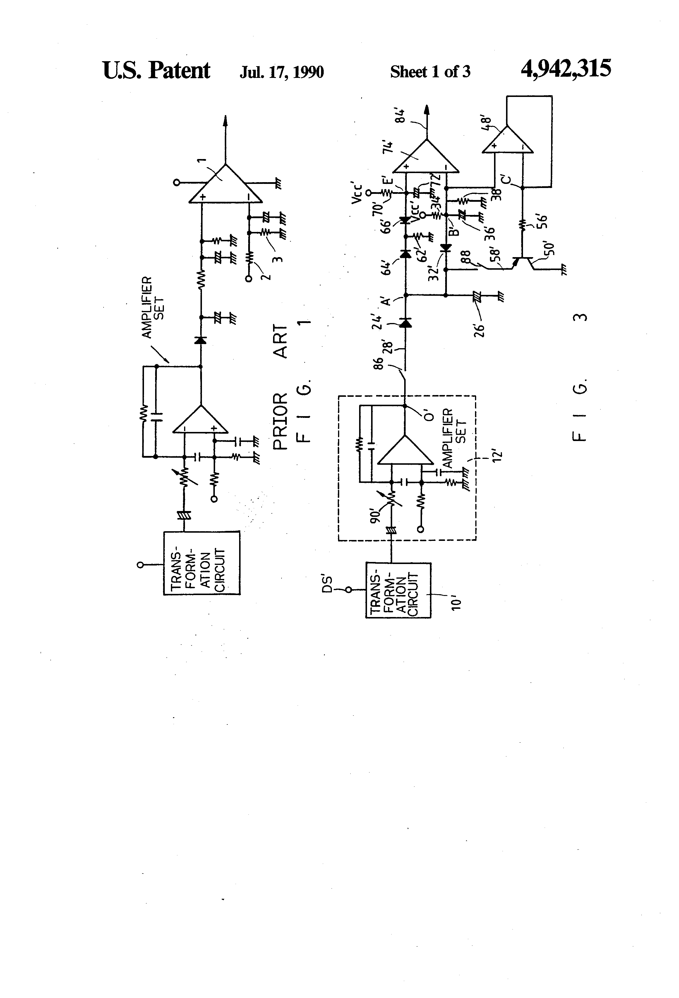 Patent US4942315 - Base point floating cut off wave form