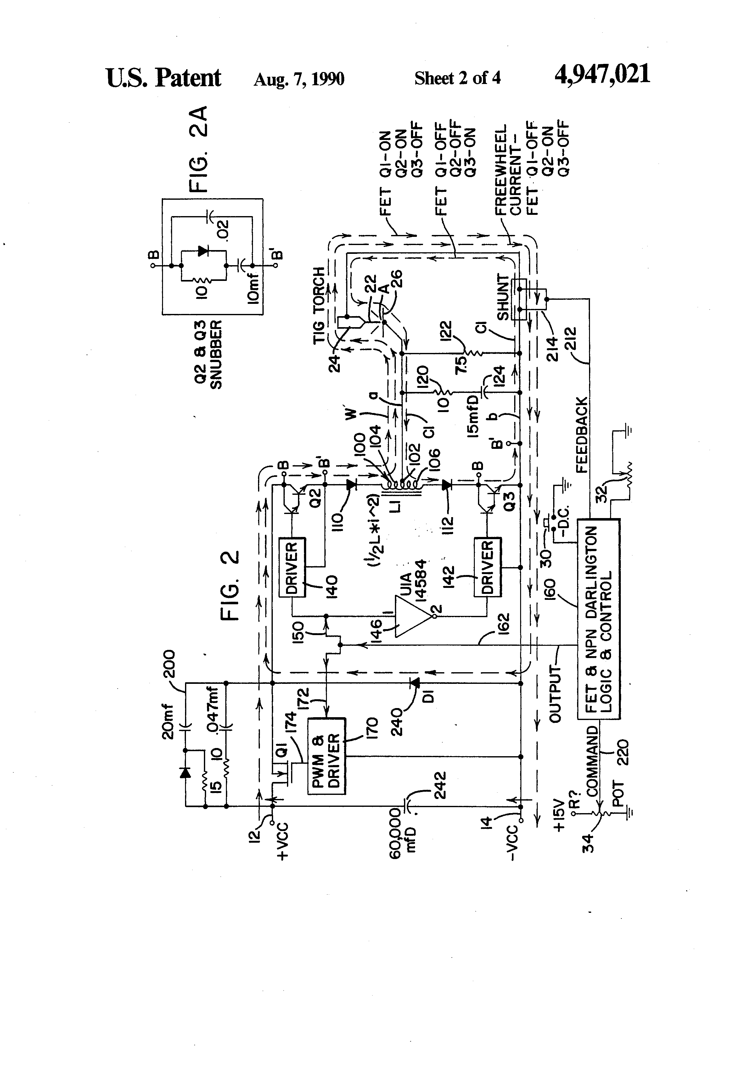 Patent Ep0570901a2 Control System For Alternating Current Tig Welder