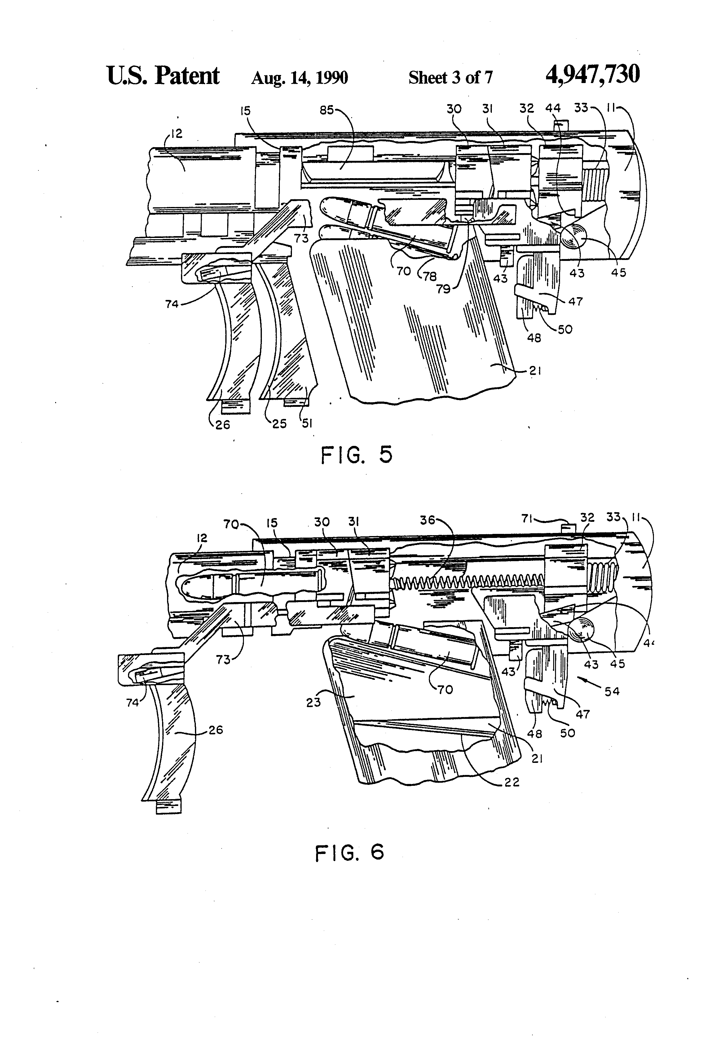 patent us firing mechanism for polymer weapon apparatus  patent drawing