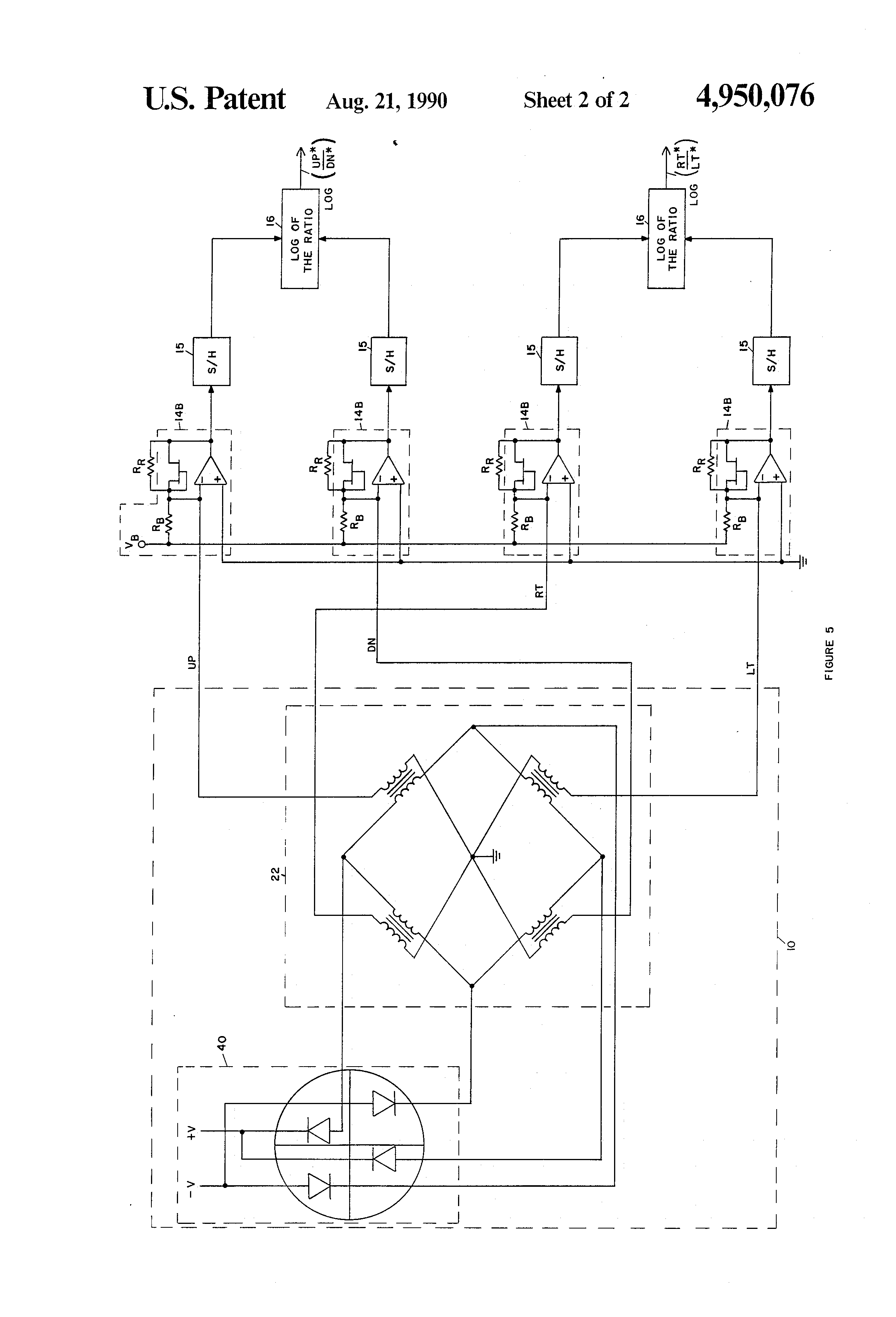 Patent Us4950076 Alternate Approach For Obtaining Dynamic Range In Figure 2 Transimpedance Amplifier Transfer Function Drawing
