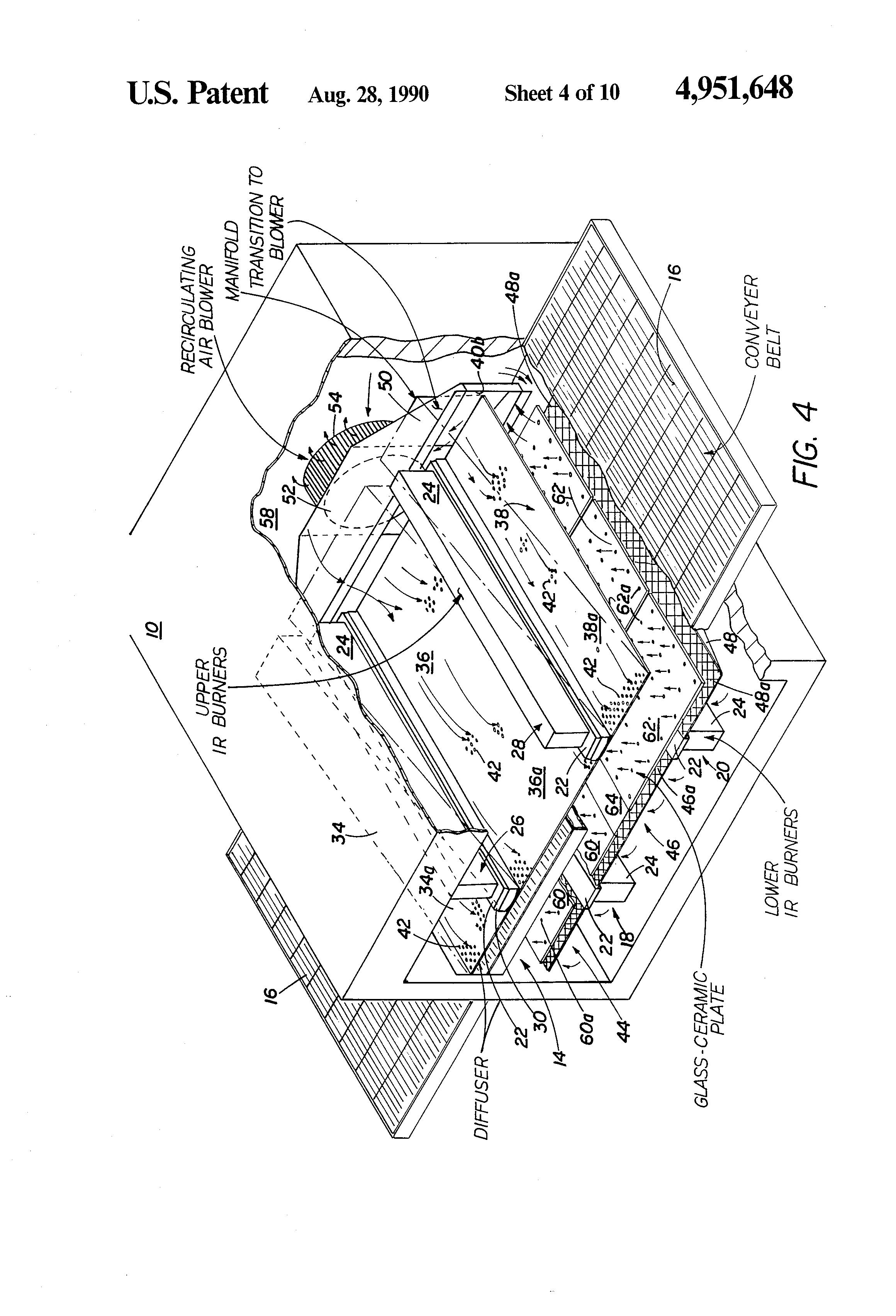 patent us4951648 - conveyor oven