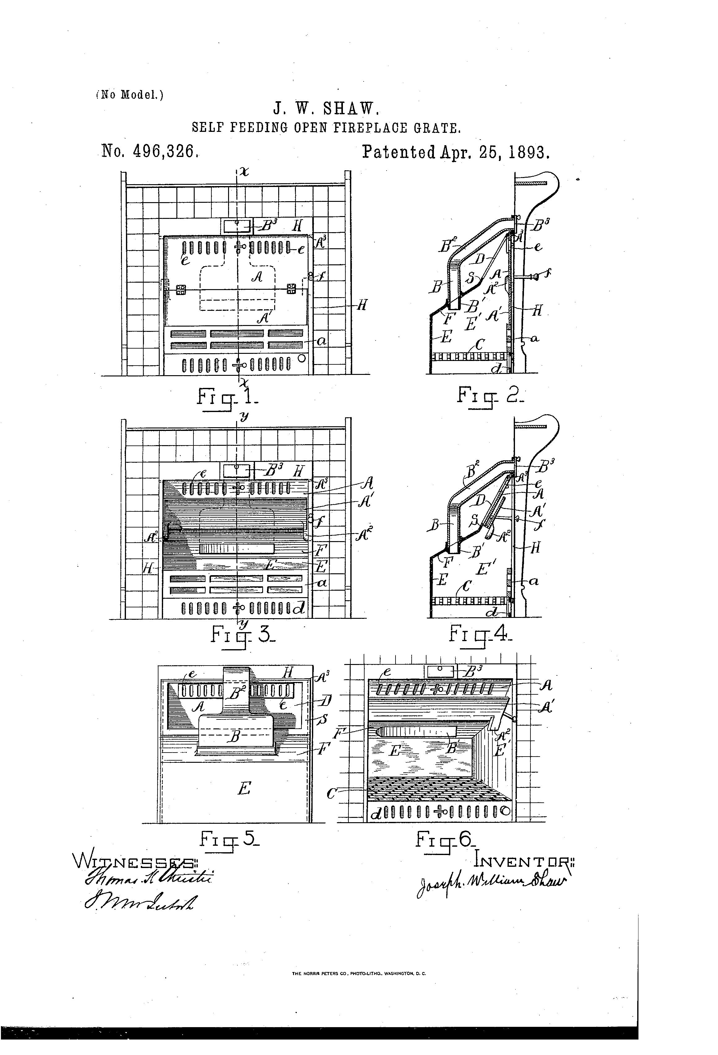 patent us496326 self feeding open fireplace grate google patents