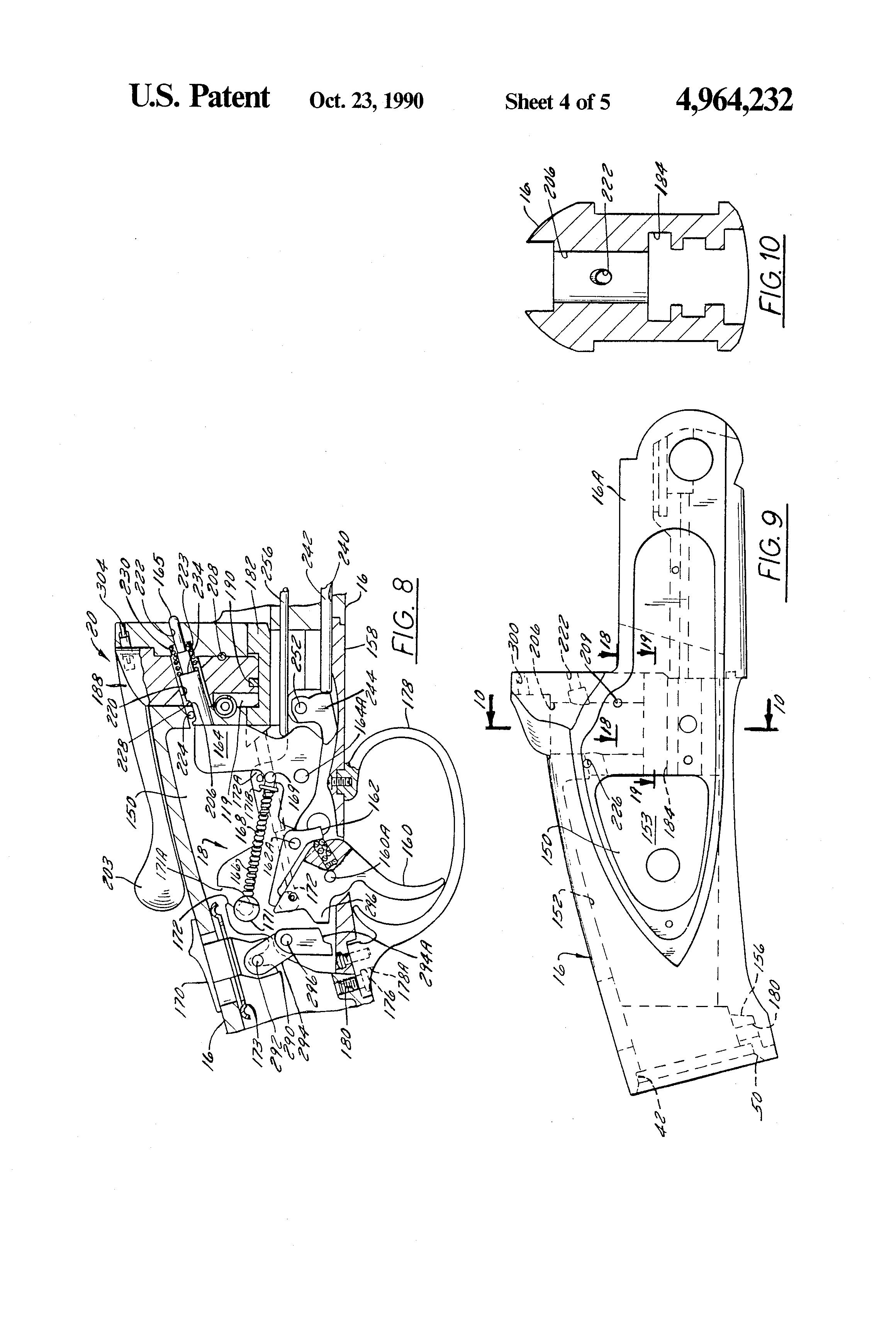 Patent Us4964232 Single Barrel Break Action Trap Shotgun