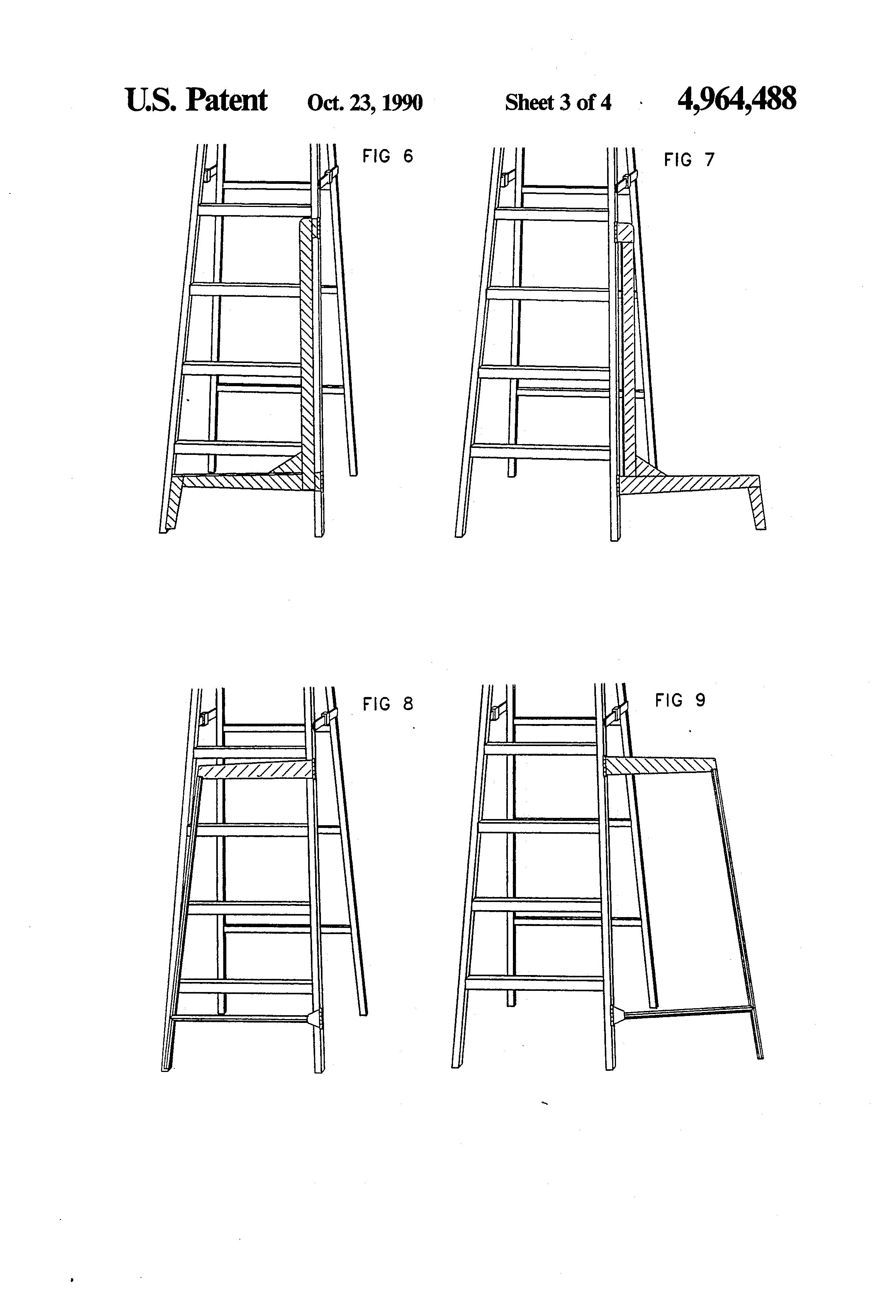 Patent Us4964488 Ladder Stabilizer Google Patents