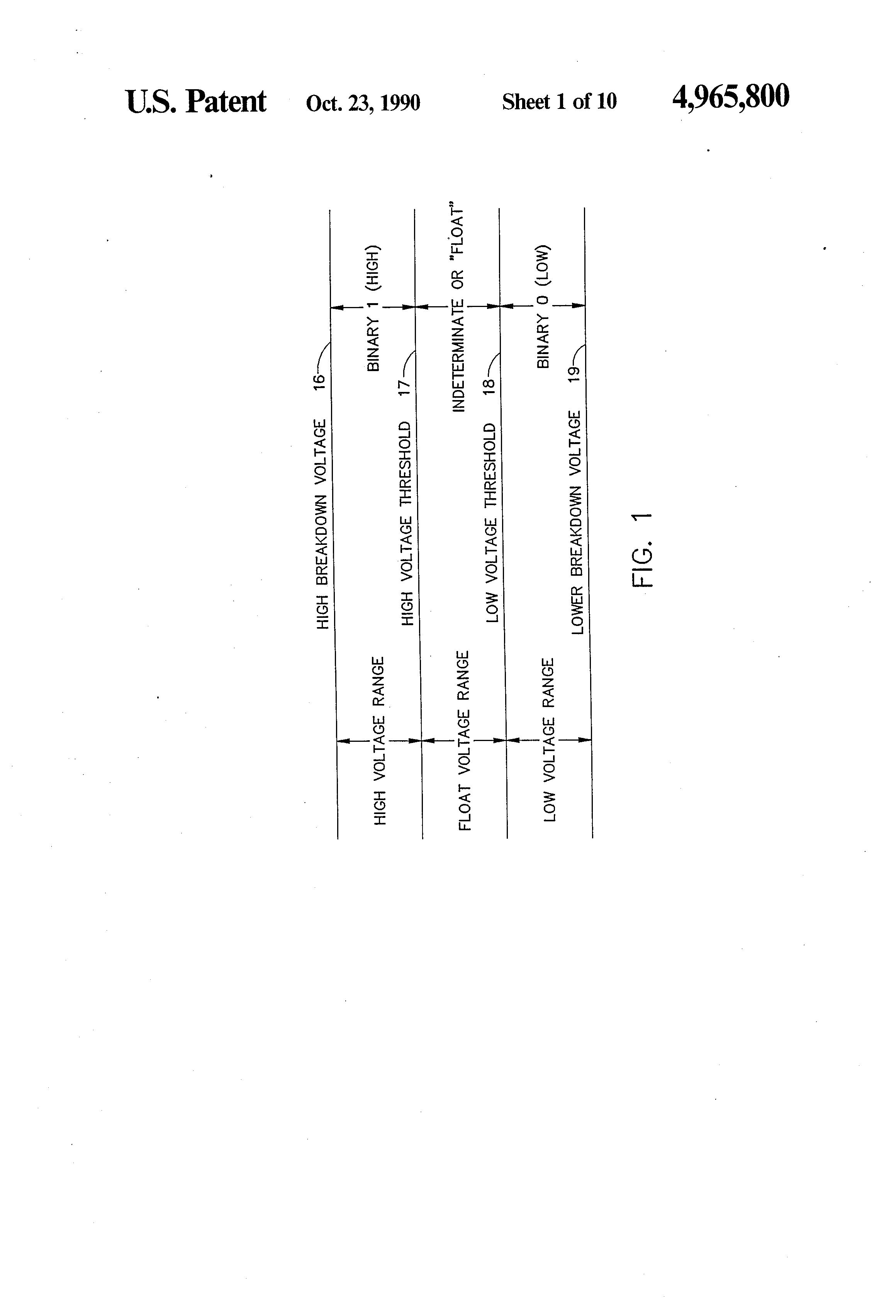 Patent Us4965800 Digital Signal Fault Detector Google Patents Cmos Logic Probe Drawing