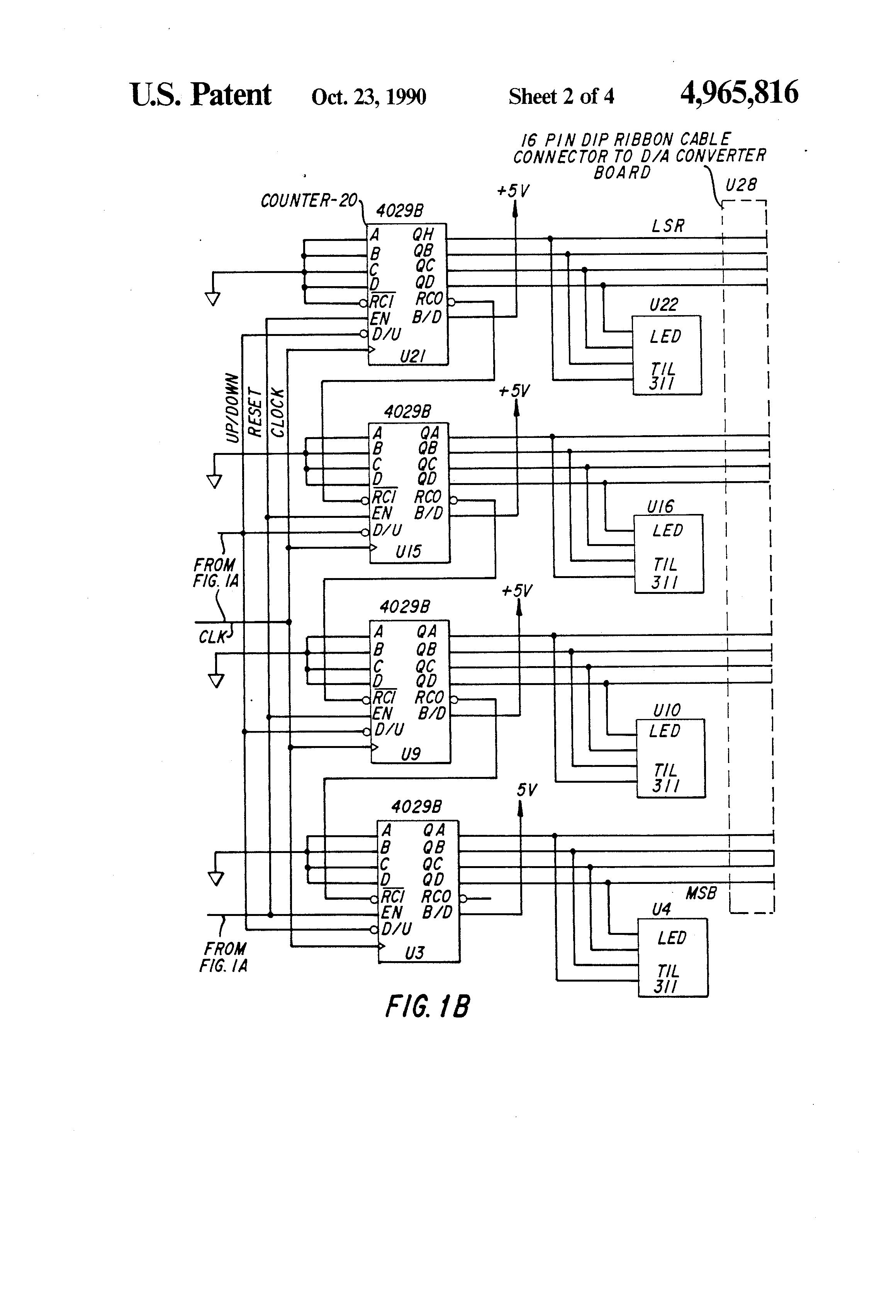 Us4965816 Digital Logic Circuit For Incremental 4 2 Encoder Diagram Patent Drawing