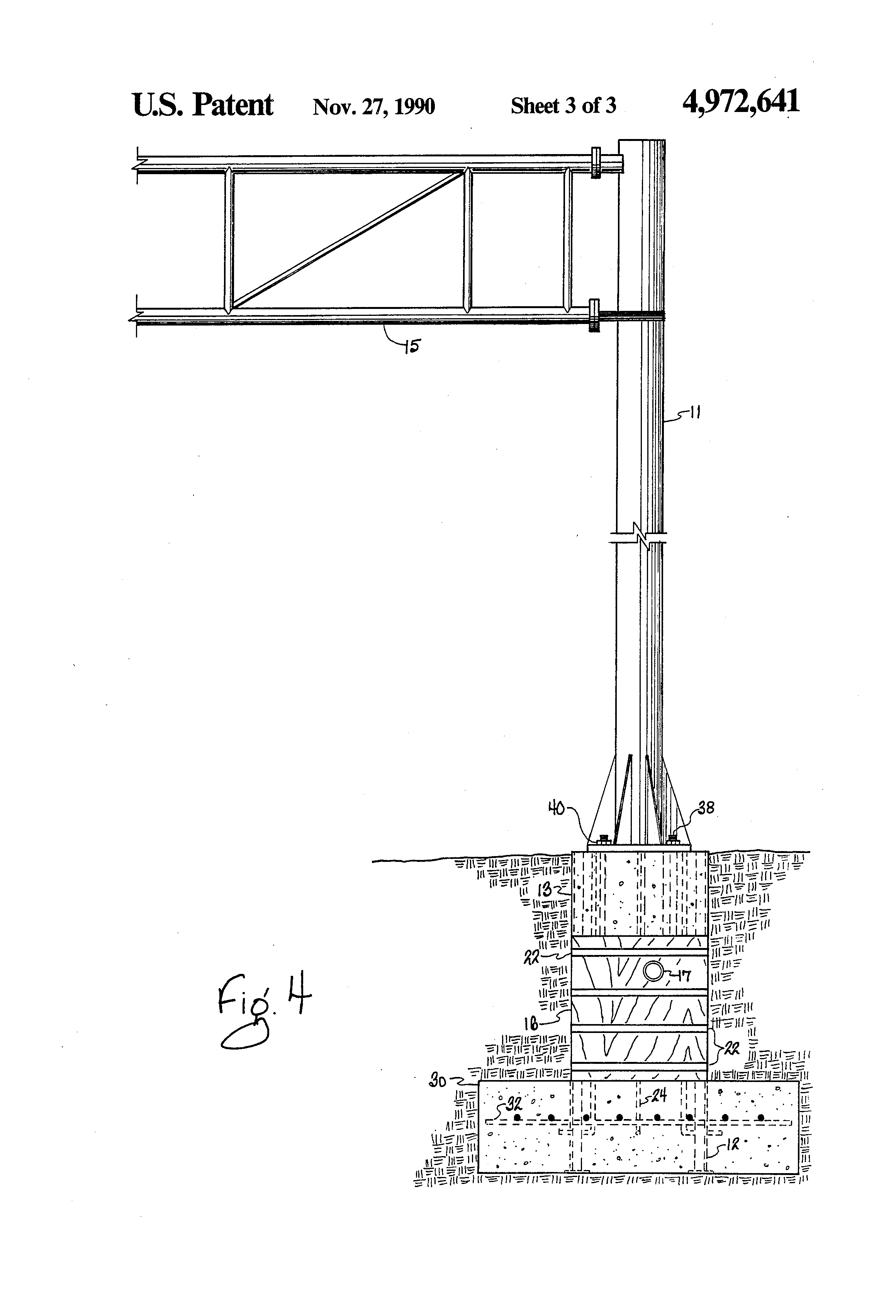 Patent Us4972641 Leave In Place Cantilever Concrete