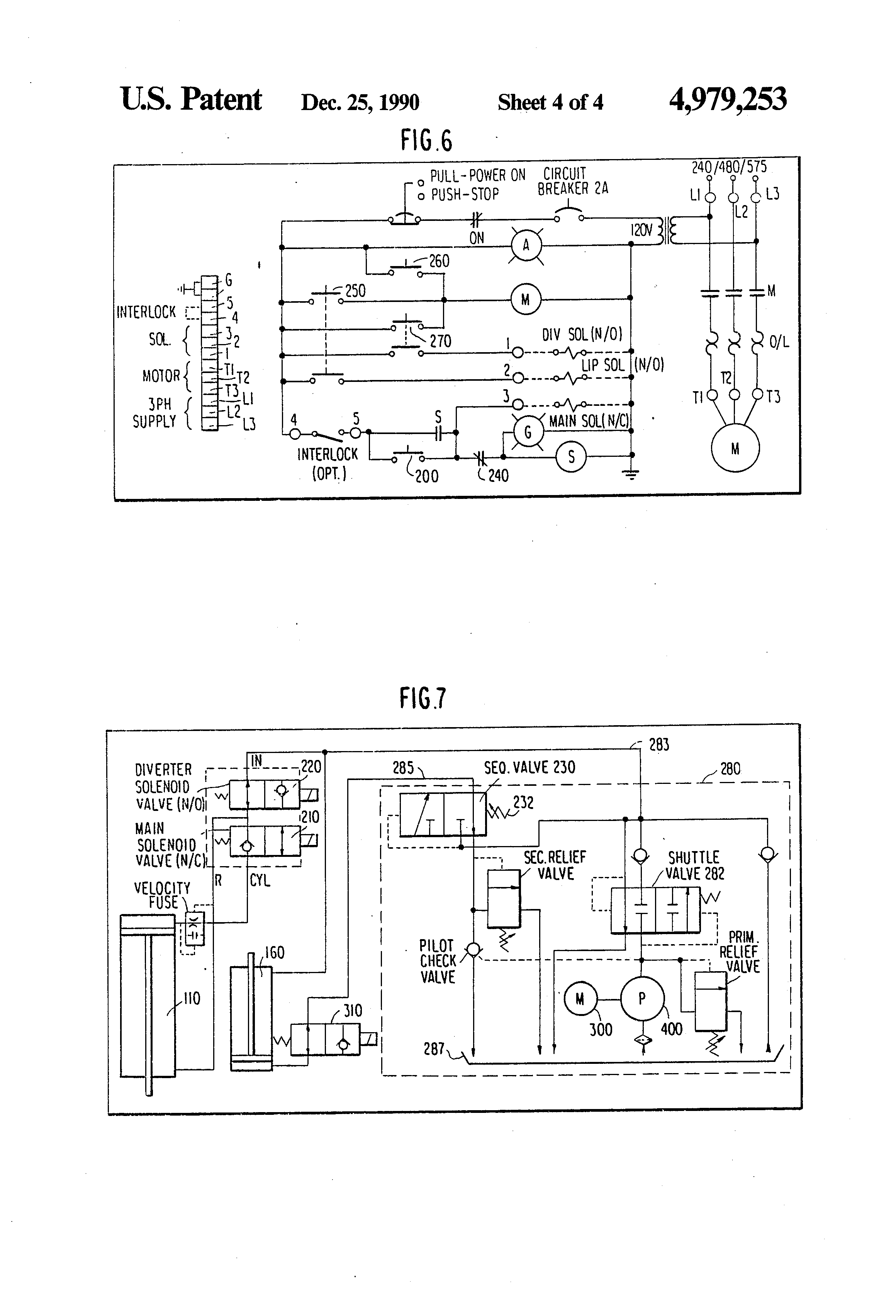 patent us4979253 - hydraulic circuit for control of lip of ... dock lock wiring diagram dock leveler wiring diagram #4