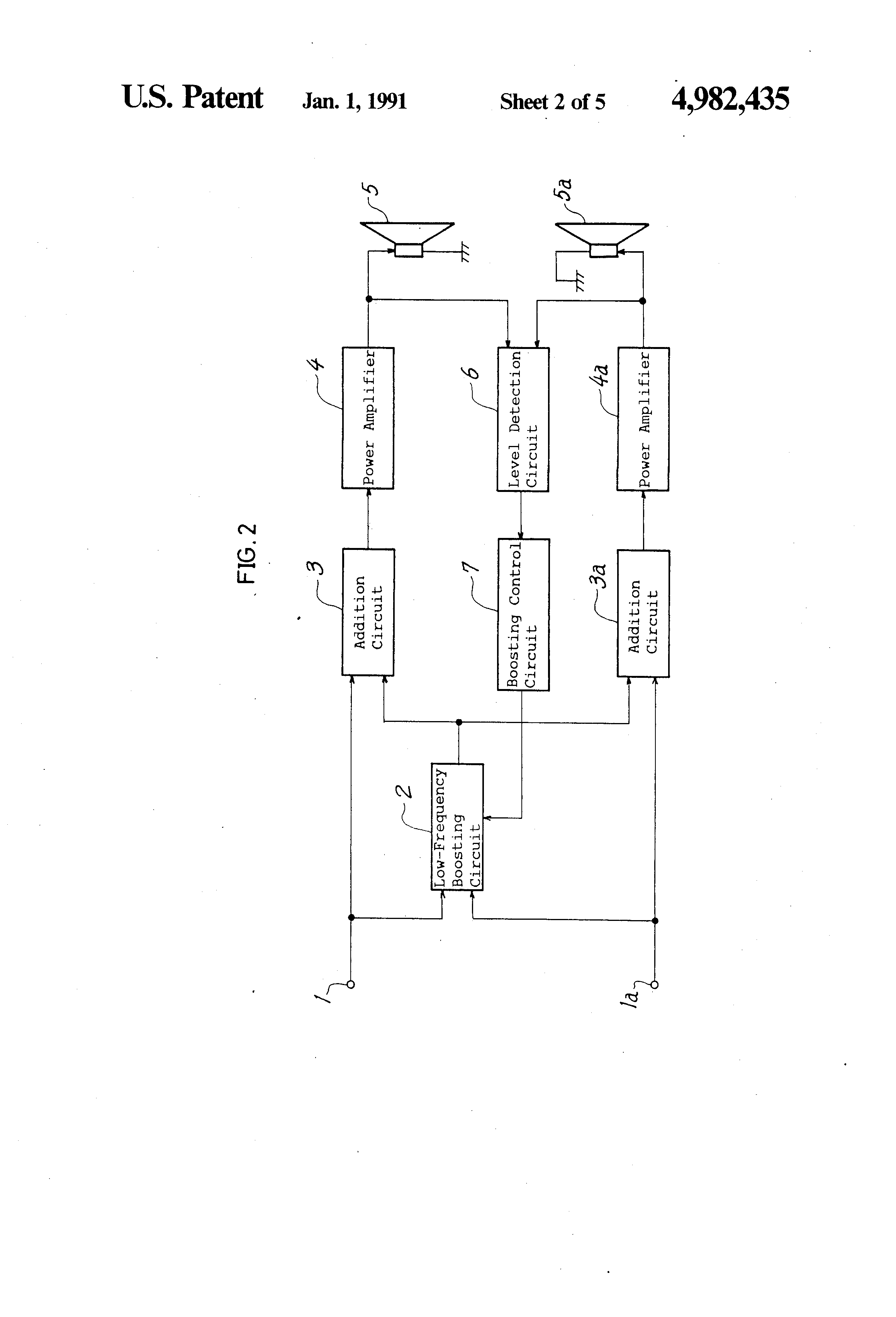 Patent Us4982435 Automatic Loudness Control Circuit Google Electronic Switch Integrated Controlcircuit Drawing