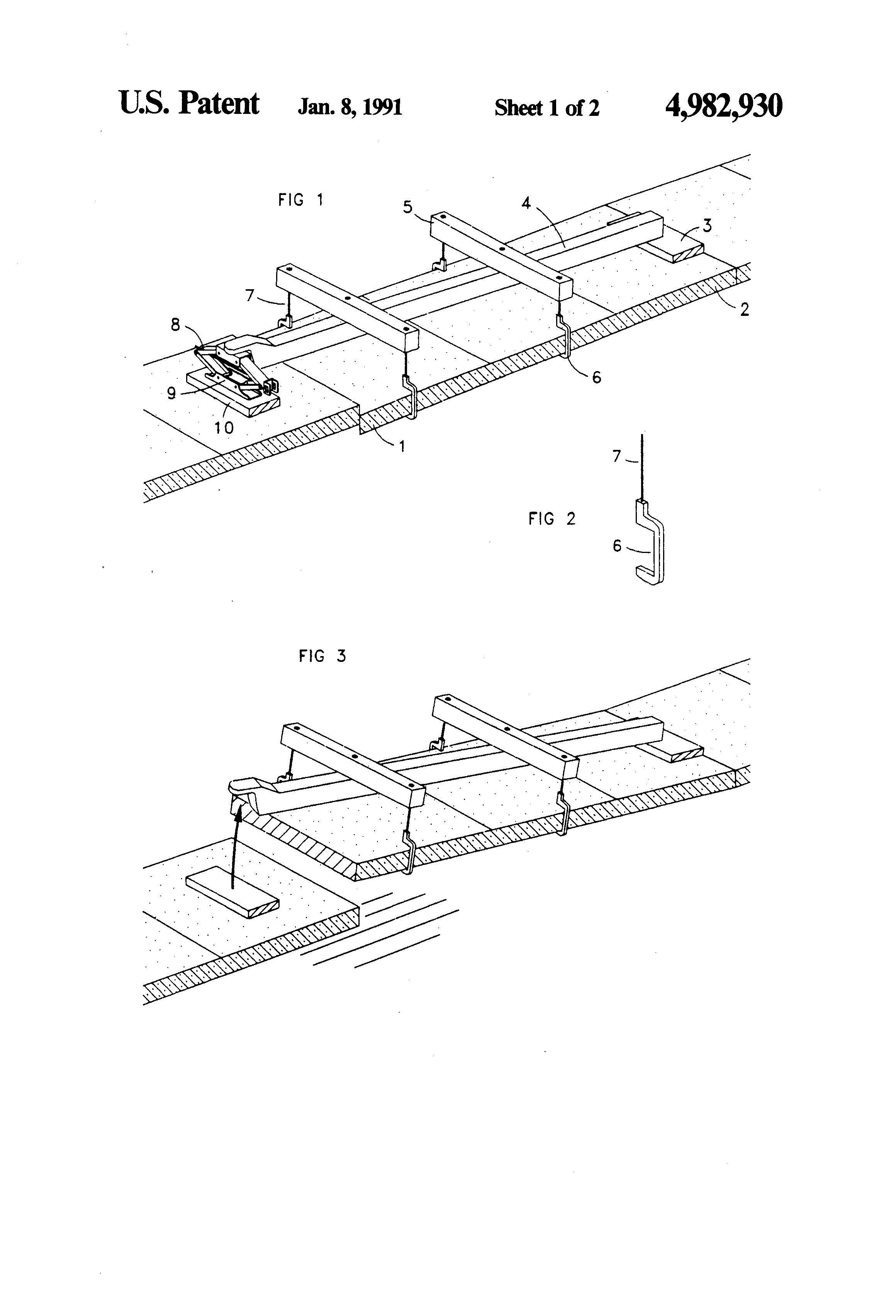 Patent US4982930 - Sidewalk lifter - Google Patents