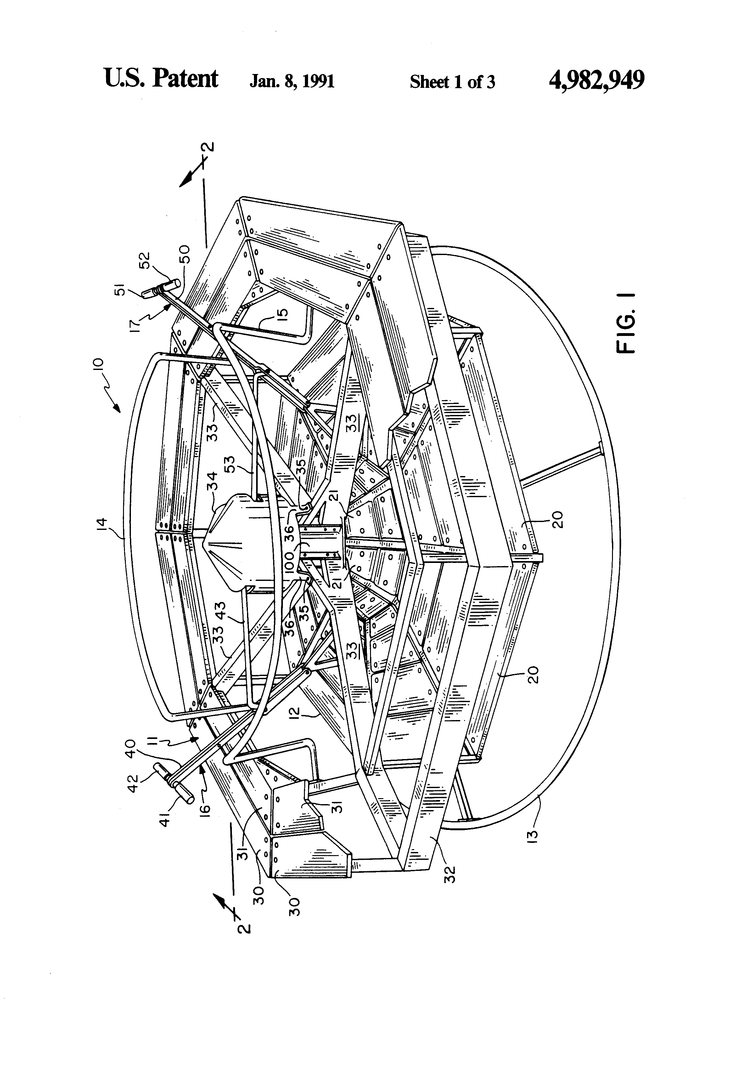 Brevet Us4982949 Merry Go Round Google Brevets Wiring Diagram Ibanez Blazer Patent Drawing