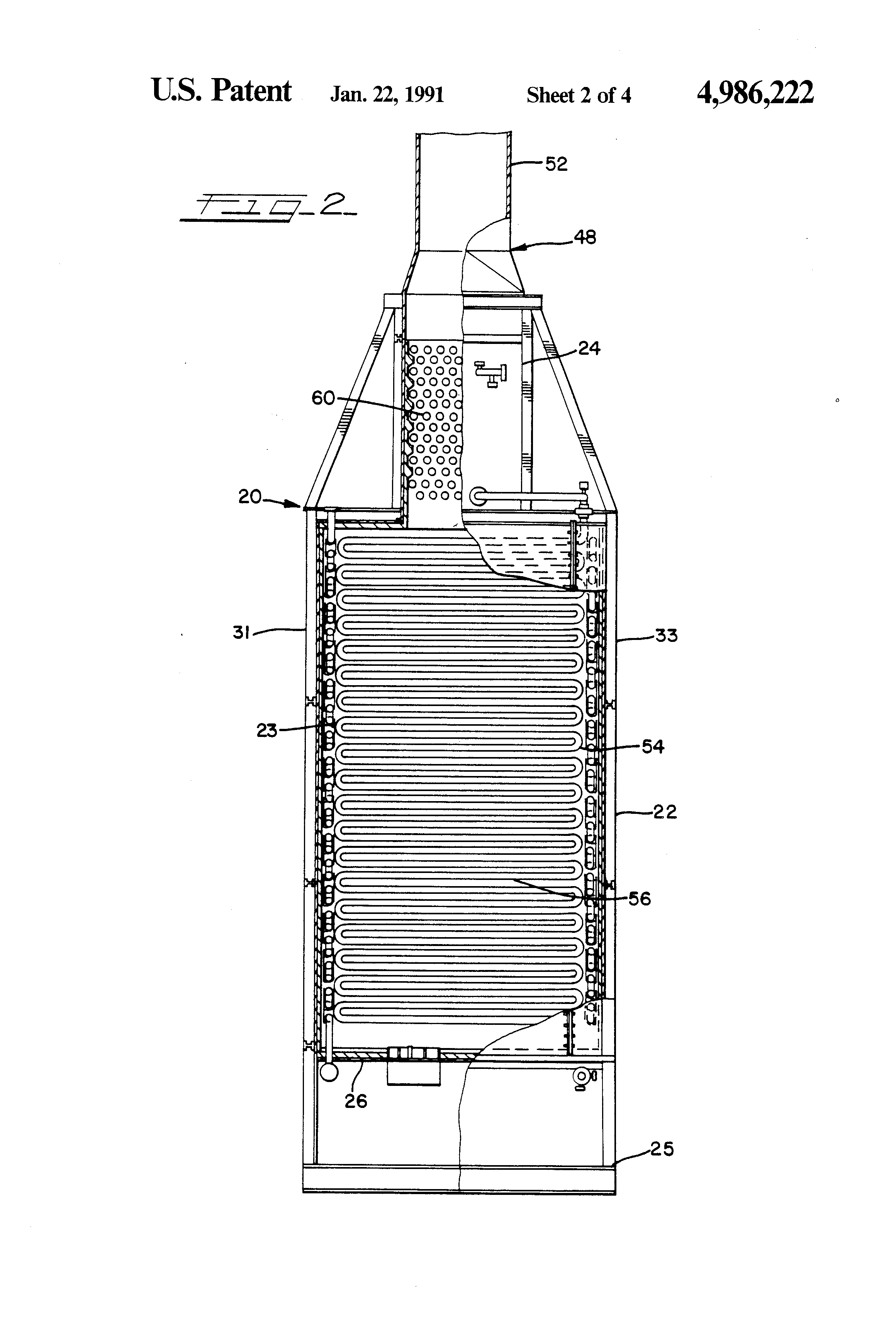 Patent Us4986222 Furnace For Oil Refineries And