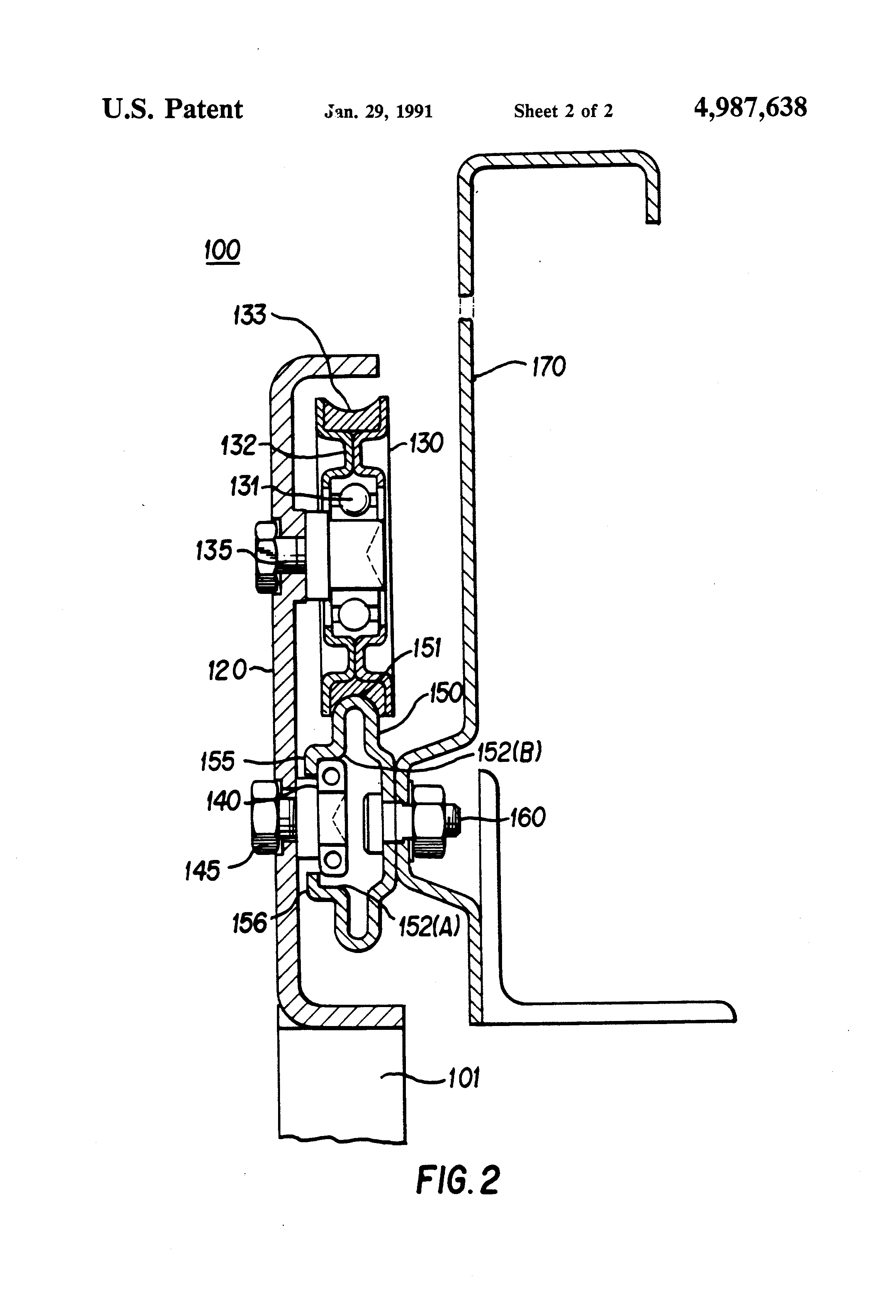 Patent Us4987638 Sliding Door Assembly Google Patents