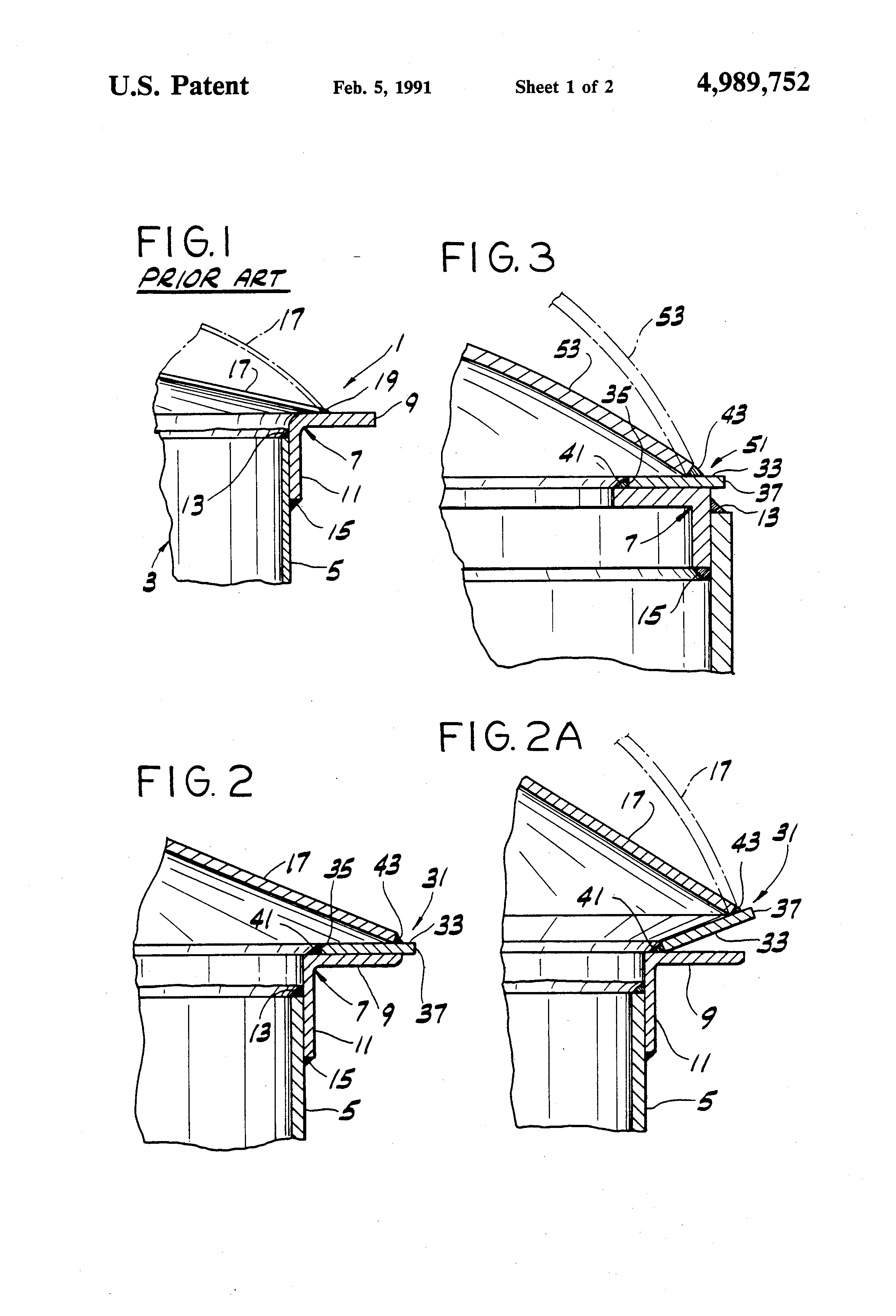 Patent Us4989752 Frangible Roof Joint For Storage Tanks