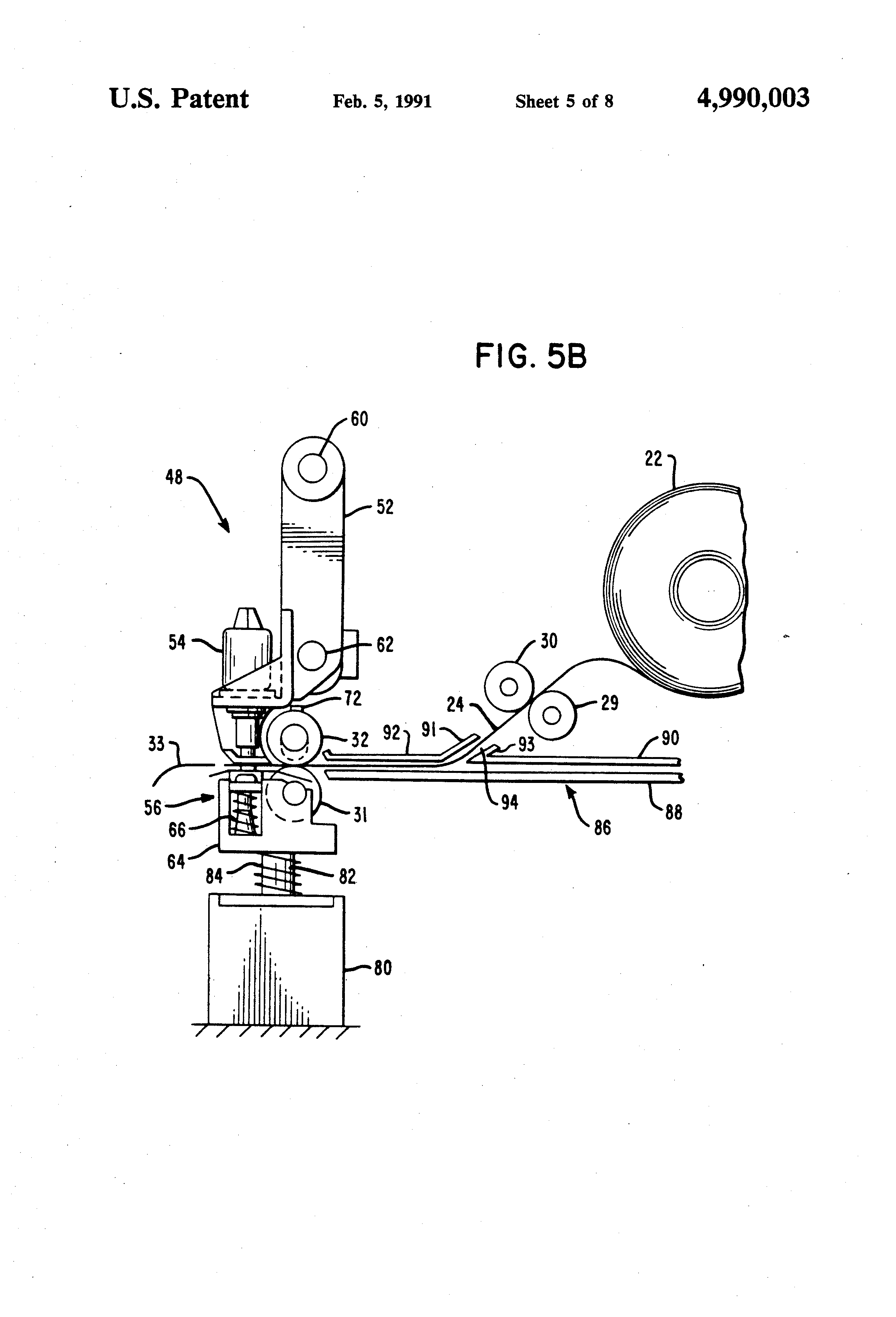 Patent Us4990003 Paper Feed Mechanism For Dot Matrix