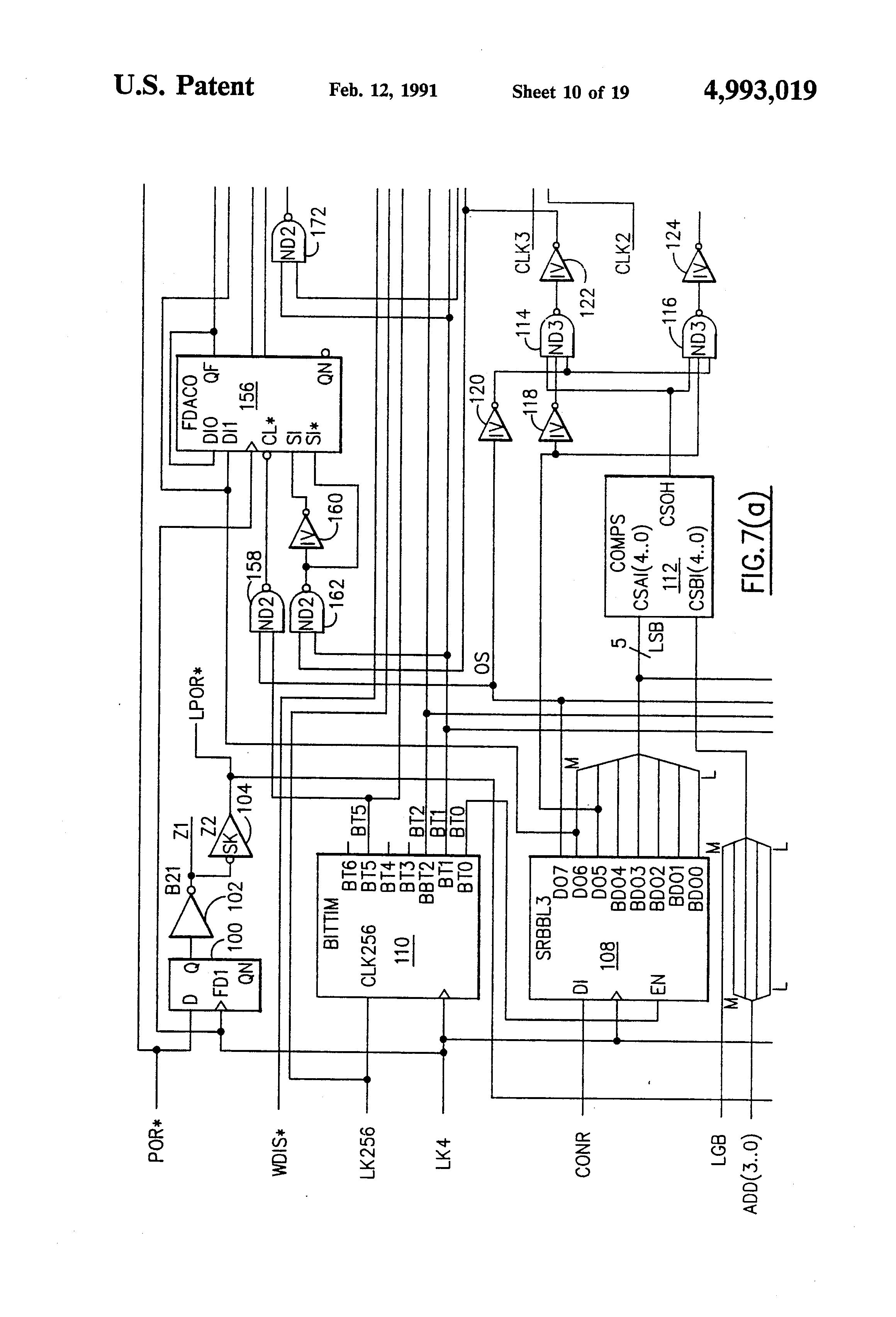 patent us4993019 - line unit interface circuit
