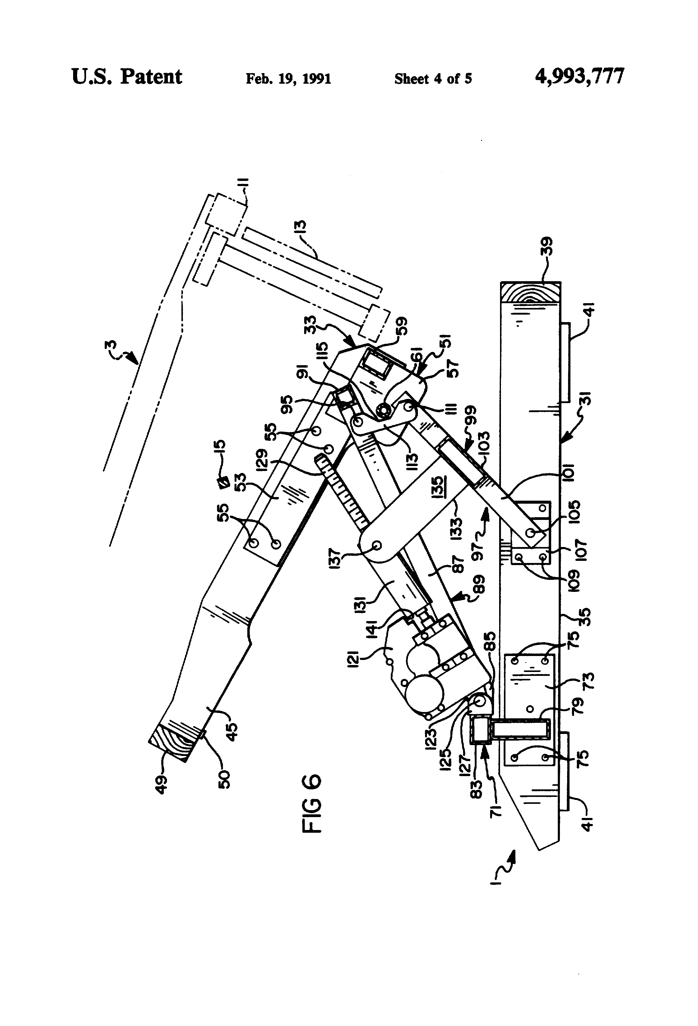 Patent Us4993777 Recliner Chair Lift Base Assembly