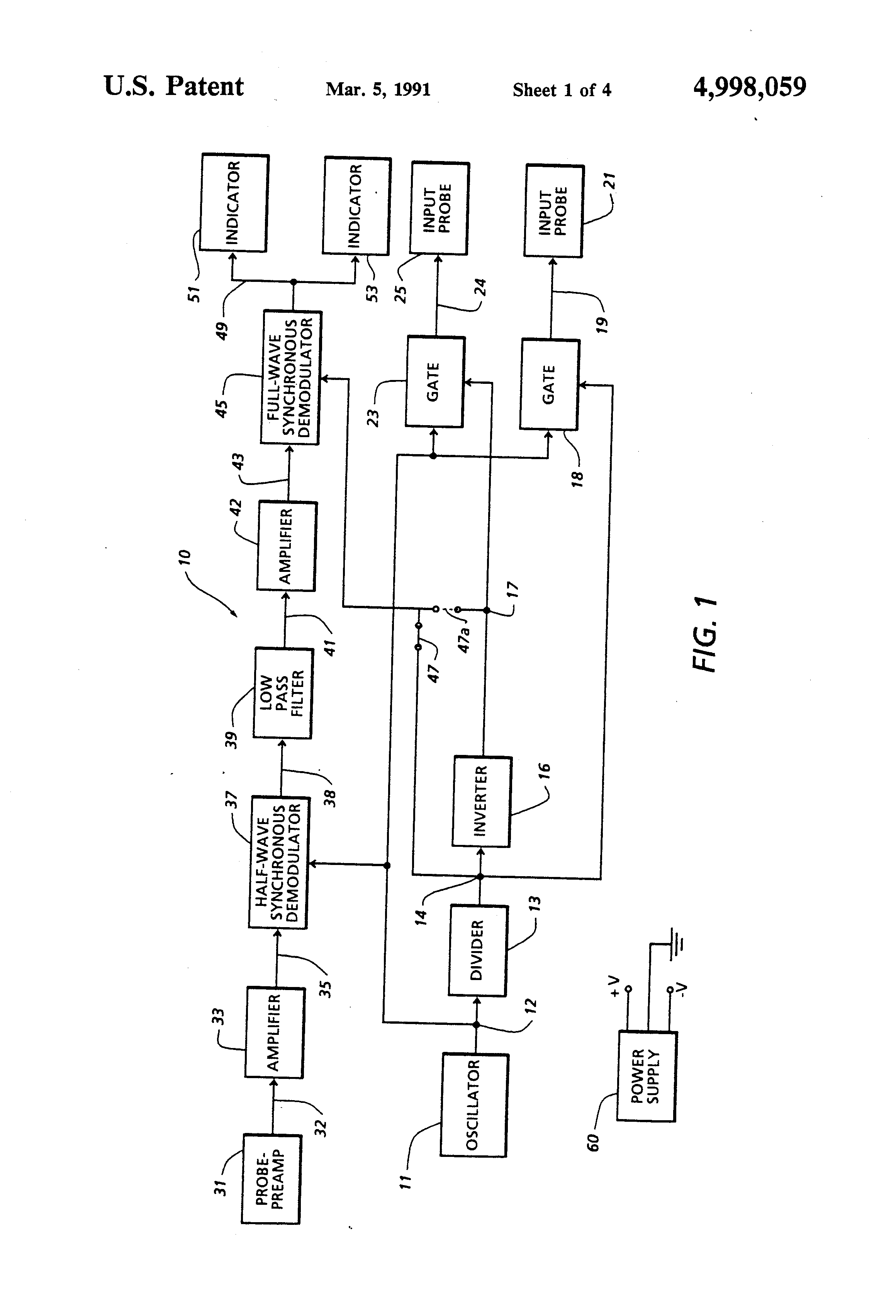 Patent Us4998059 Dual Demodulating Circuit Tracer Google Patents Fet Preamp With Tone Control By 2n3819 Drawing