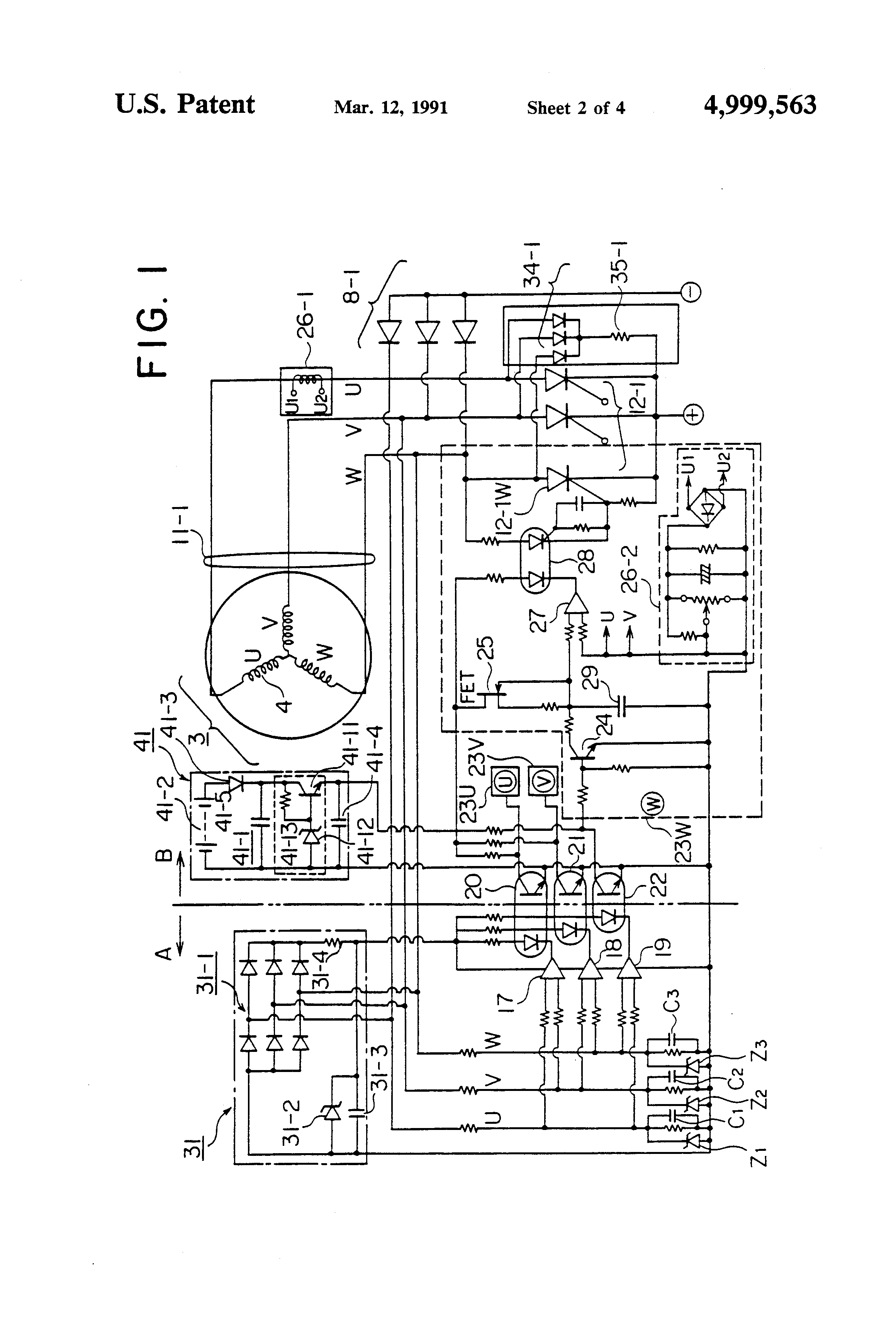 patent us4999563 - separately power-feeding welding generator