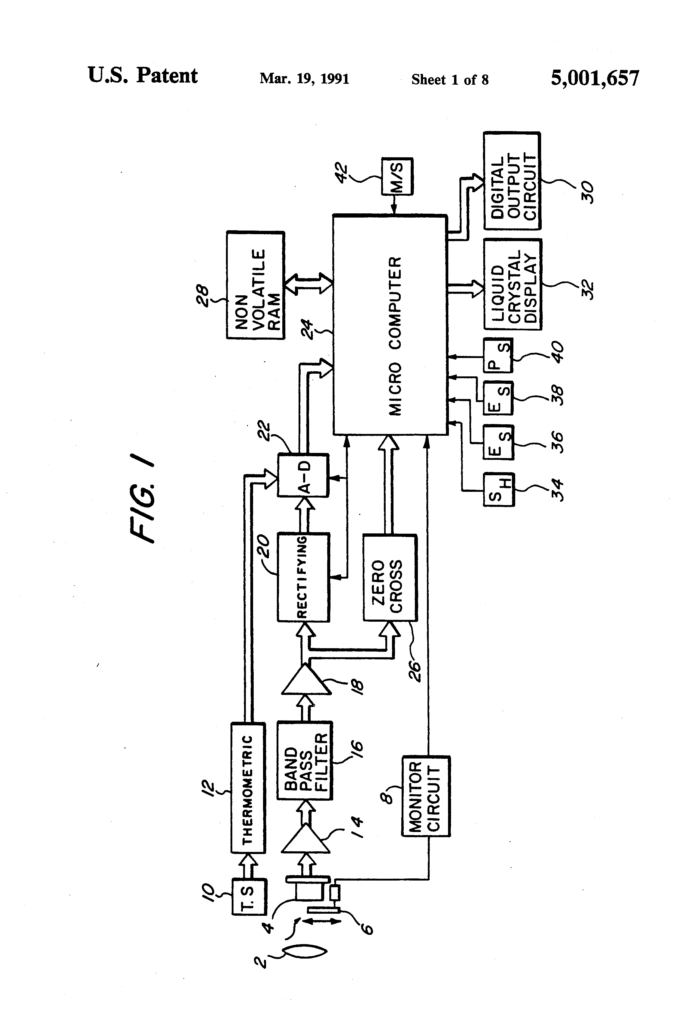 patent us5001657 - radiation thermometer