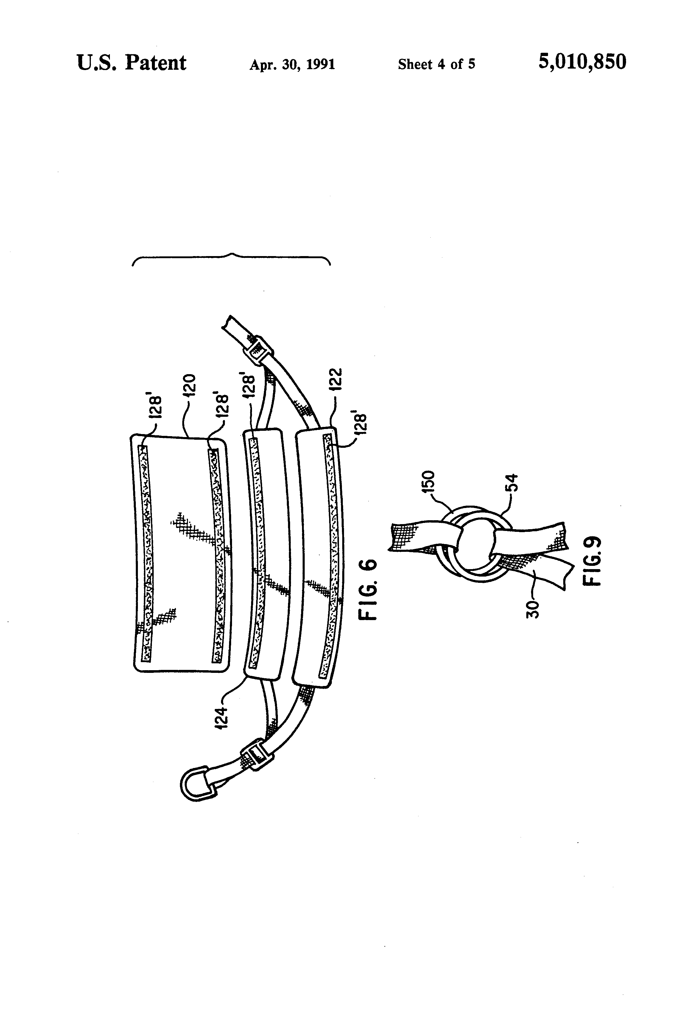 patent us5010850 - seat and harness device