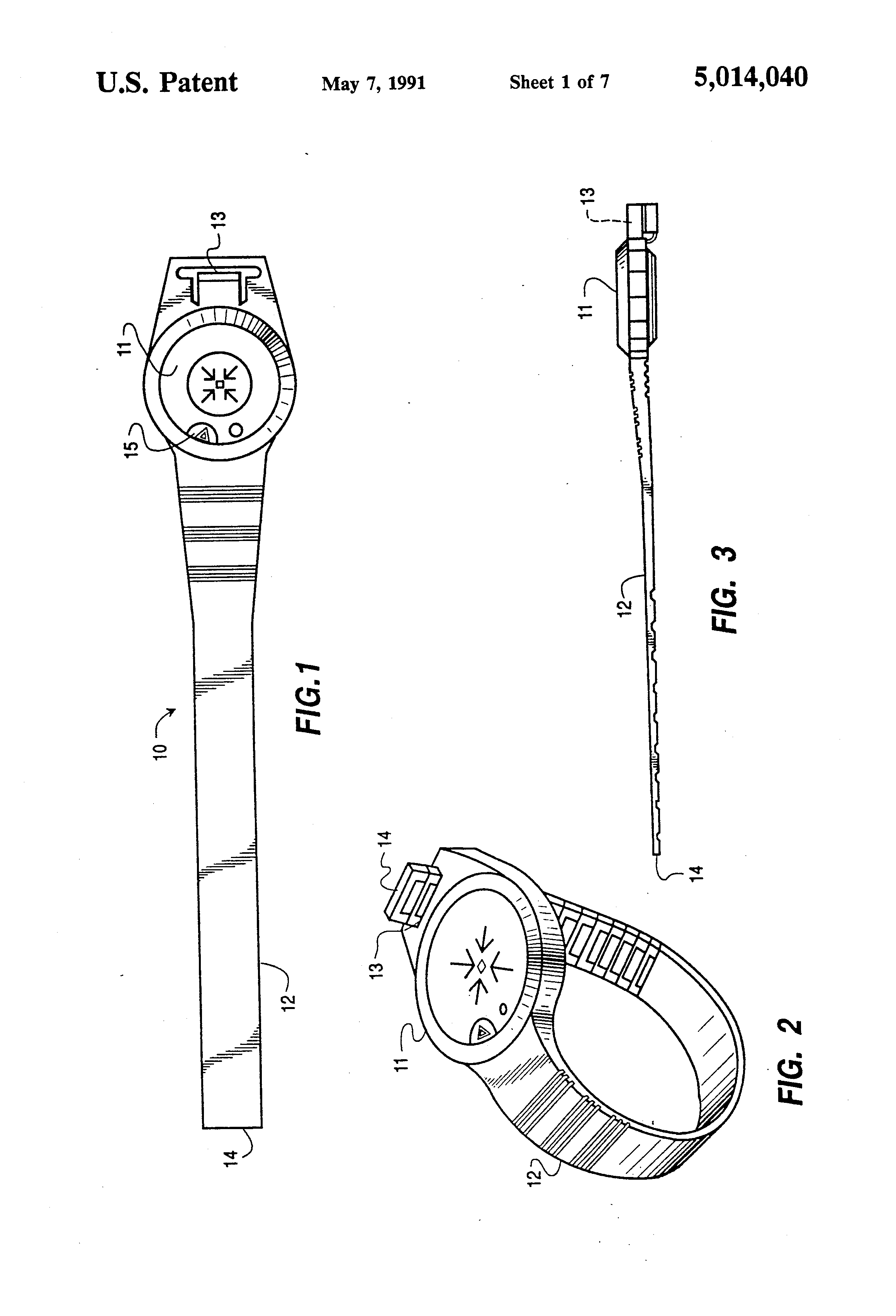 patent us5014040 - personal locator transmitter