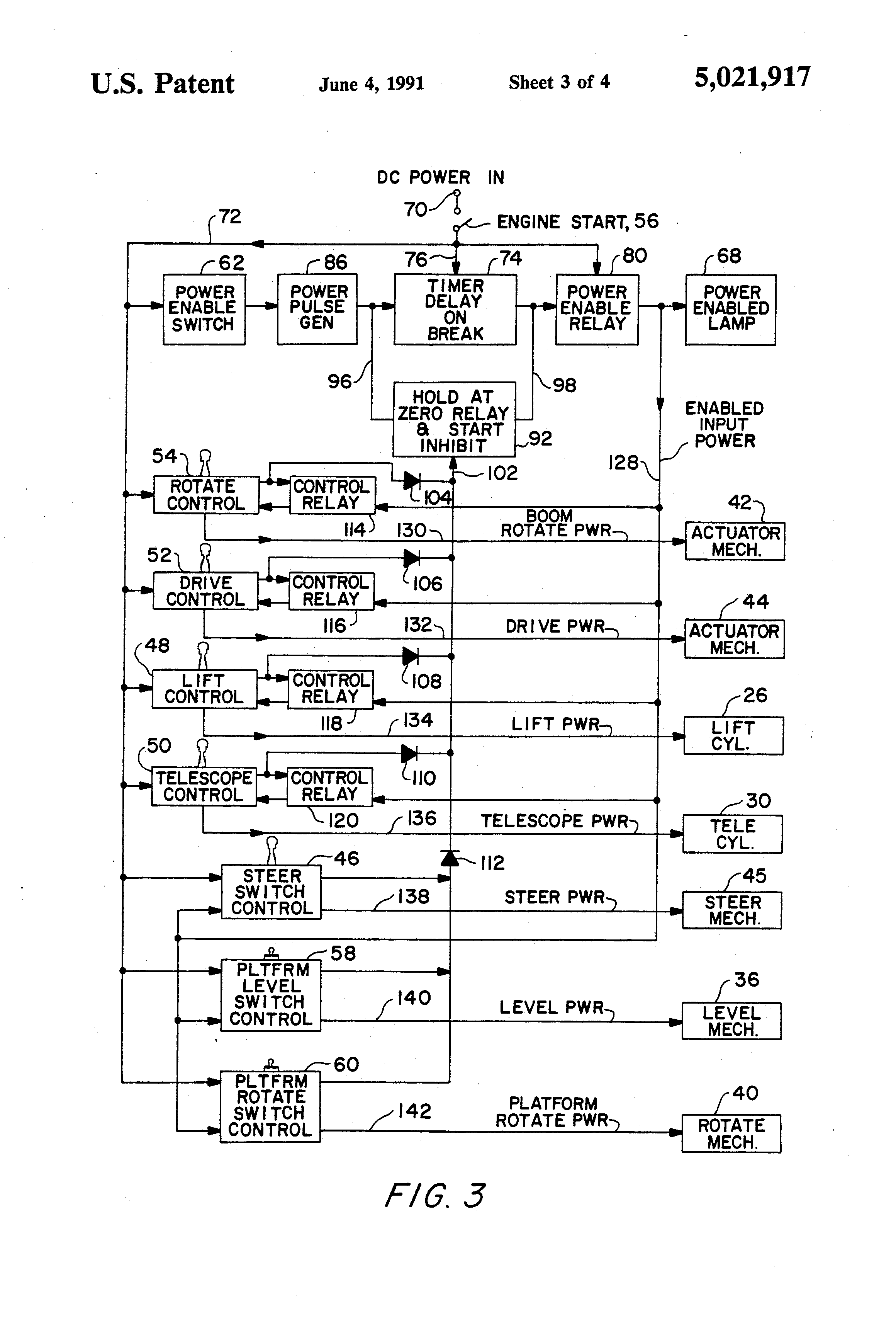 US5021917 3 patent us5021917 control panel power enabling and disabling Cam  Switch Wiring Diagram at cita