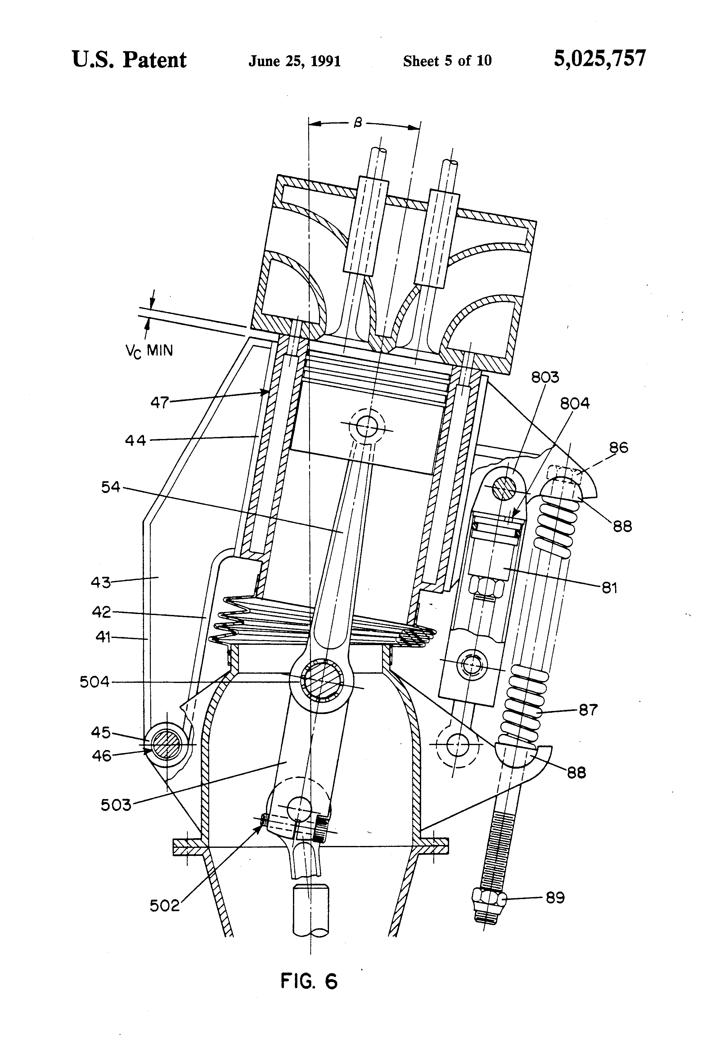 Patent Us5025757 Reciprocating Piston Engine With A