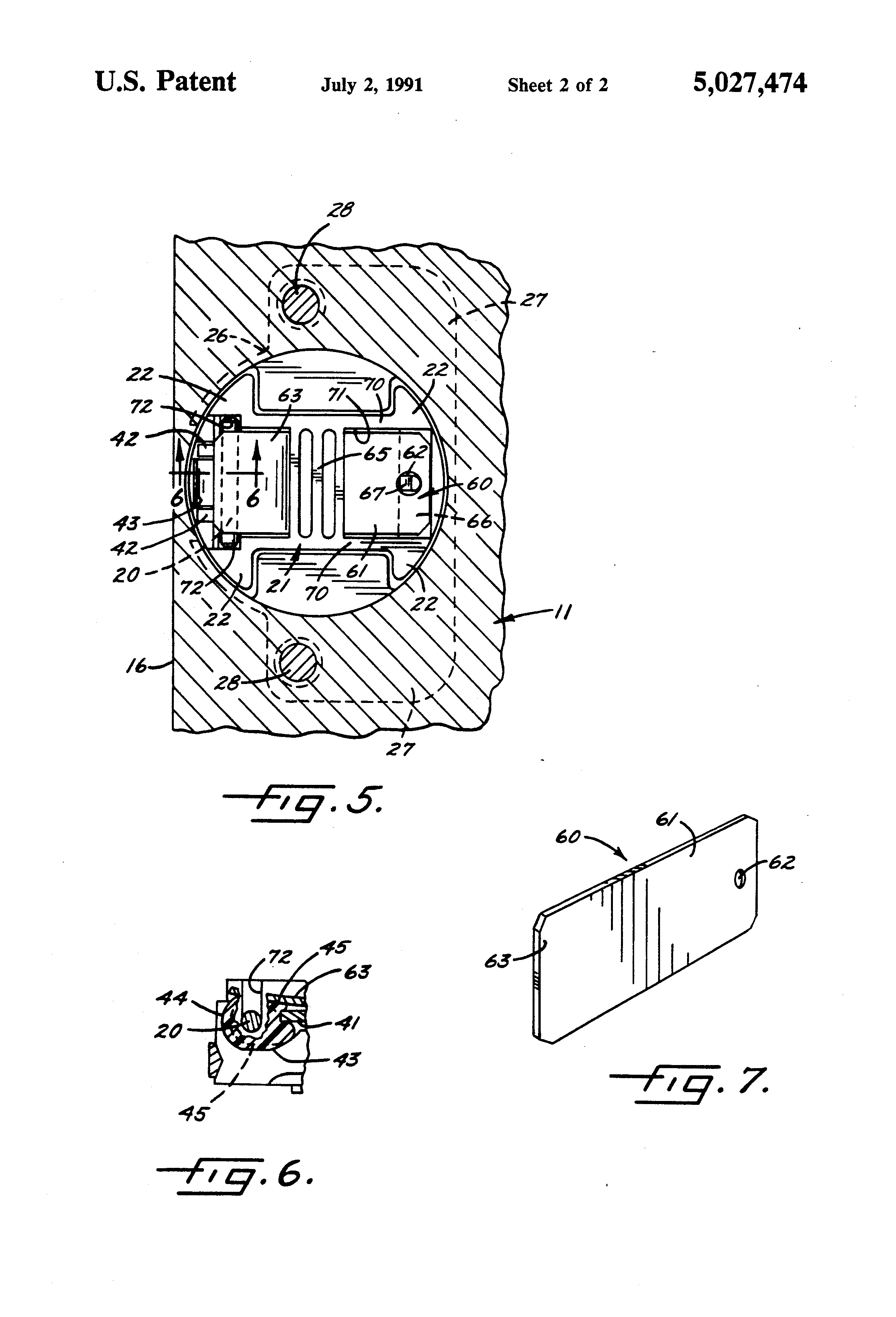 Patent Us5027474 Concealed Self Closing Hinge With Leaf