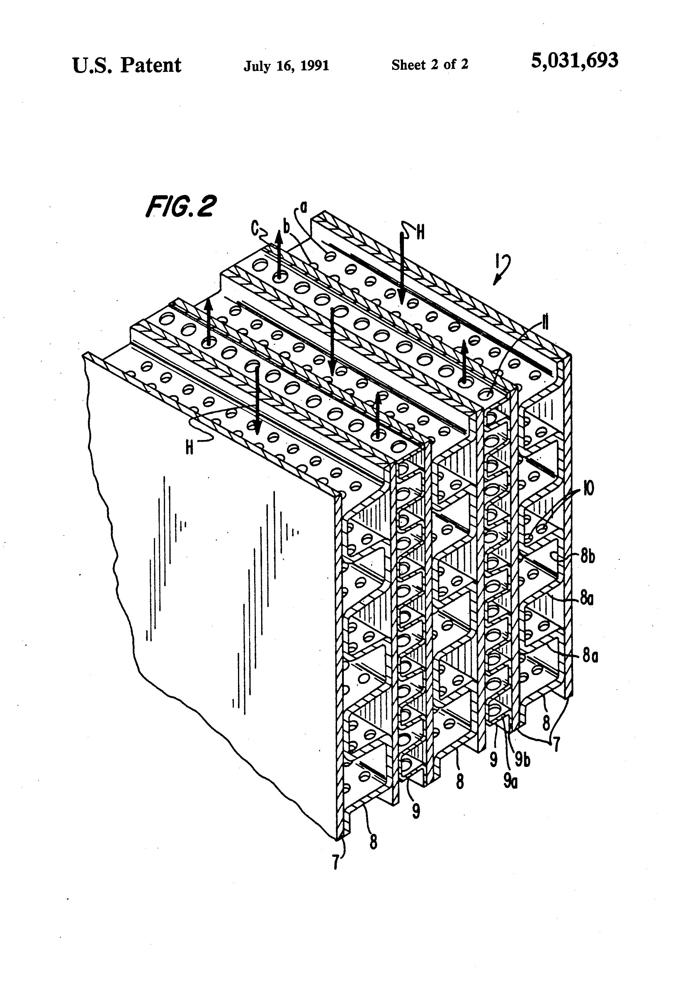 patent us5031693 - jet impingement plate fin heat exchanger