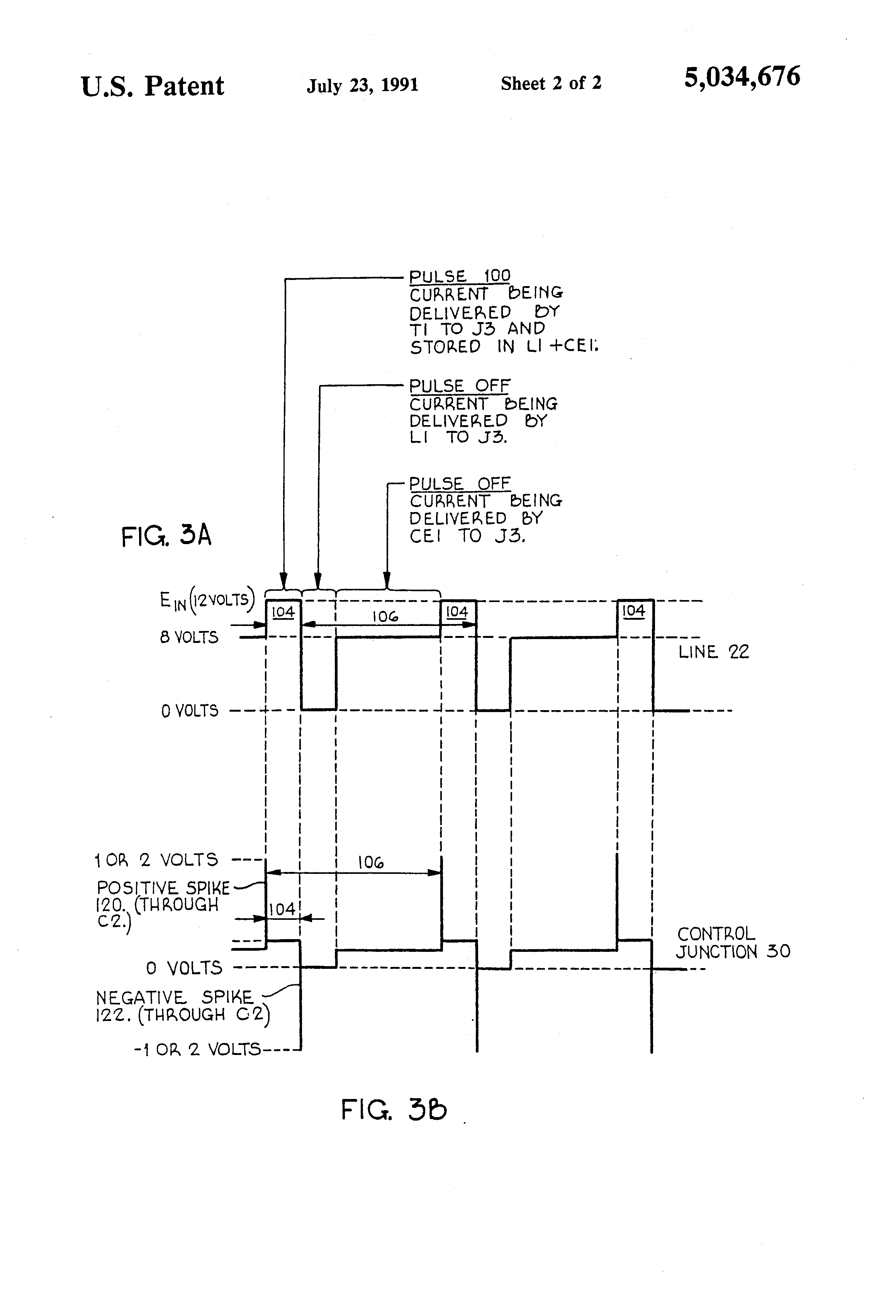 Patente Us5034676 Direct Current Power Supply Circuit Having Transistor Driver Diagram Basiccircuit Patent Drawing