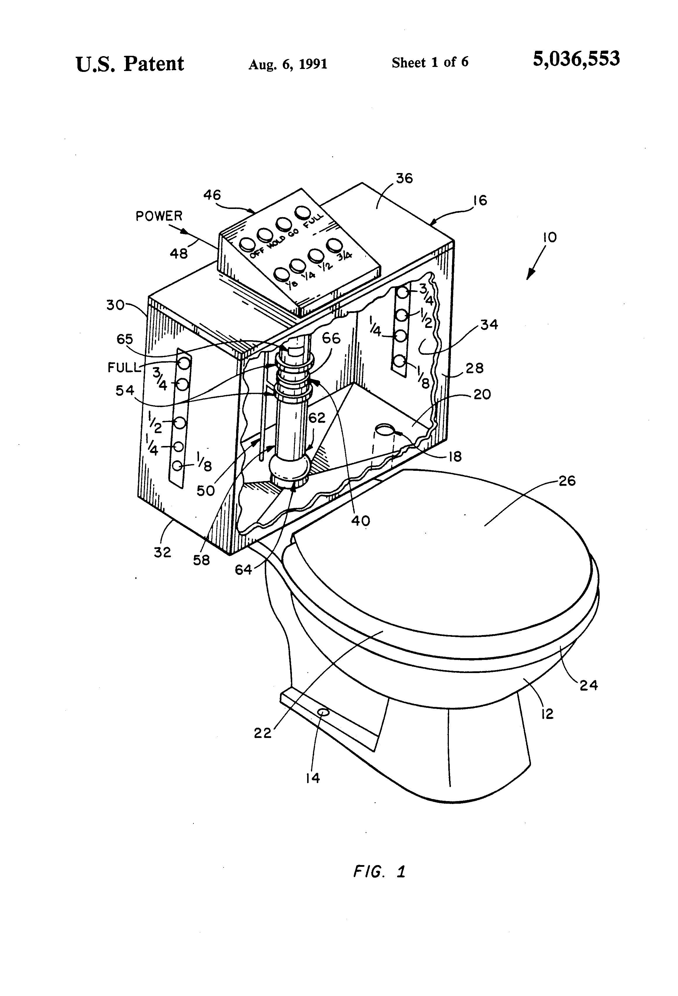 Patent Us5036553 Fully Automatic Toilet System Google