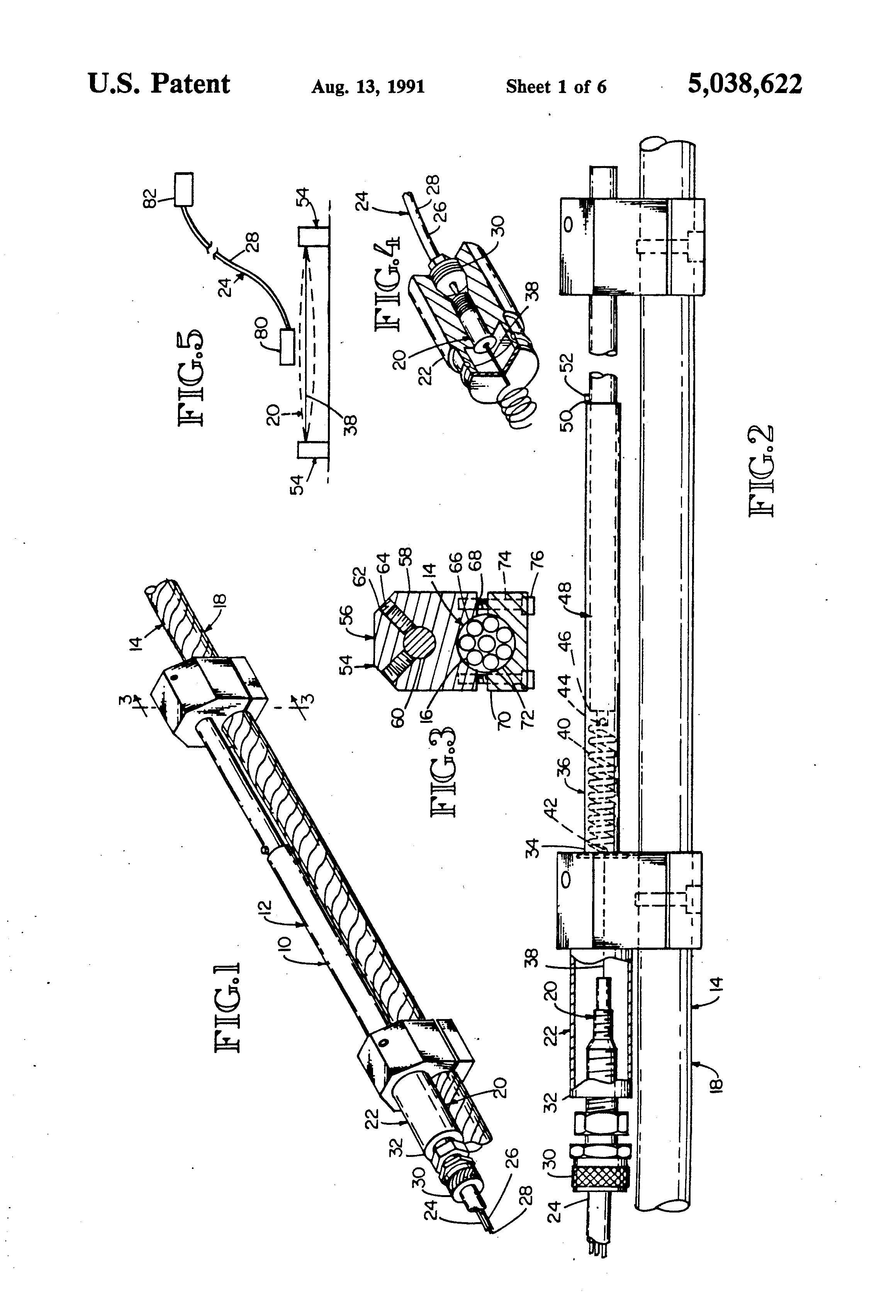 Patent Us5038622 Strain Gage Assembly For Measuring Excessive