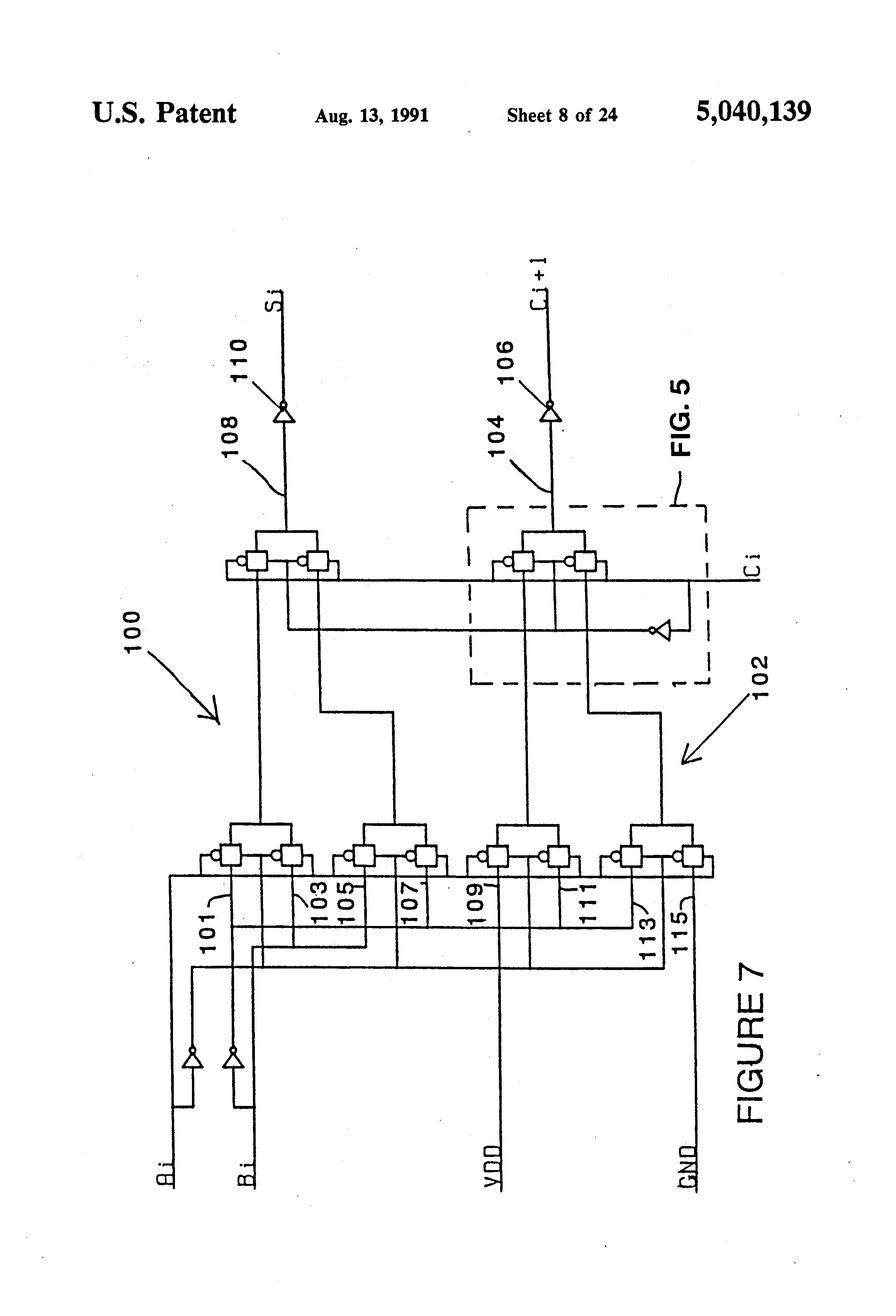 Patent Us5040139 Transmission Gate Multiplexer Tgm