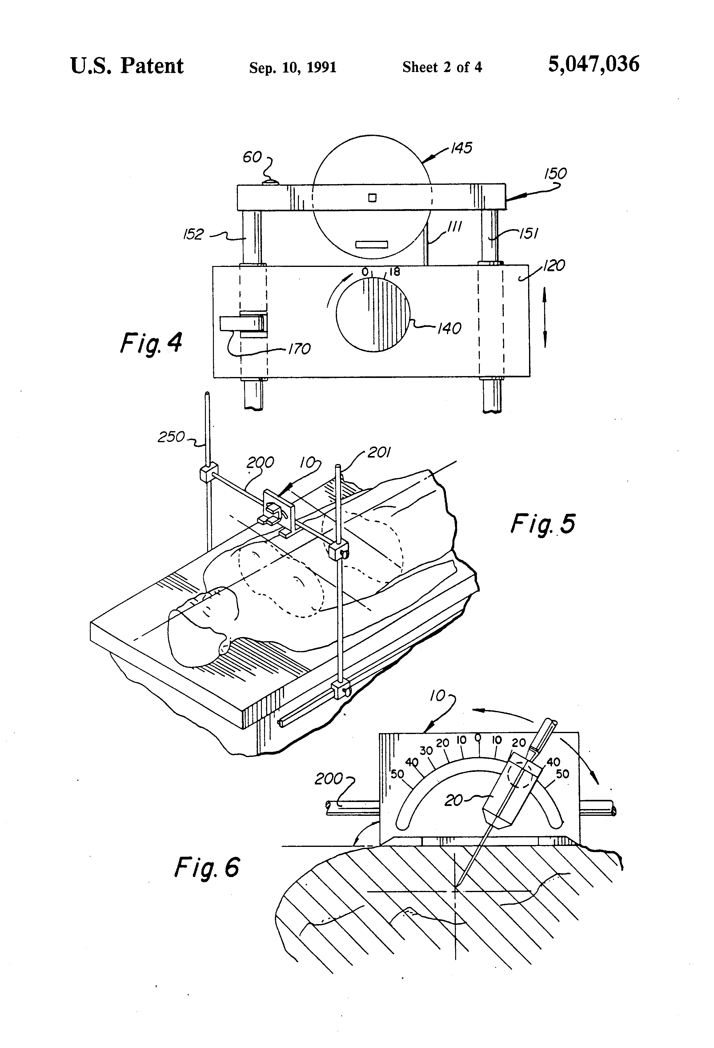 patent us5047036 - stereotactic device