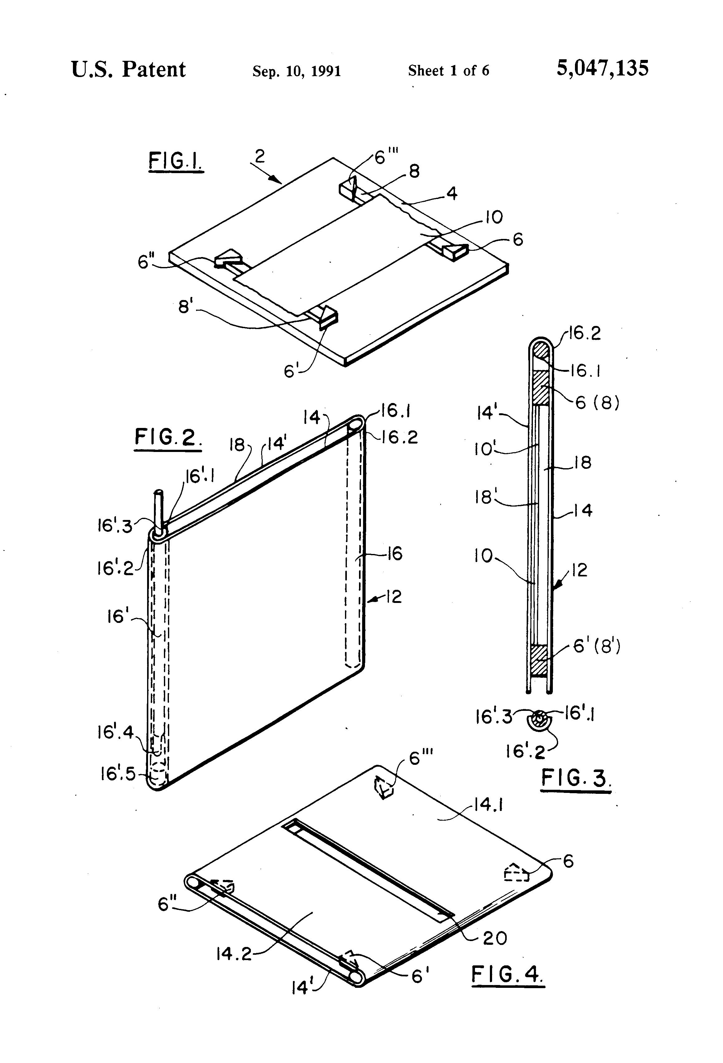 patent us5047135 - electrophoresis apparatus