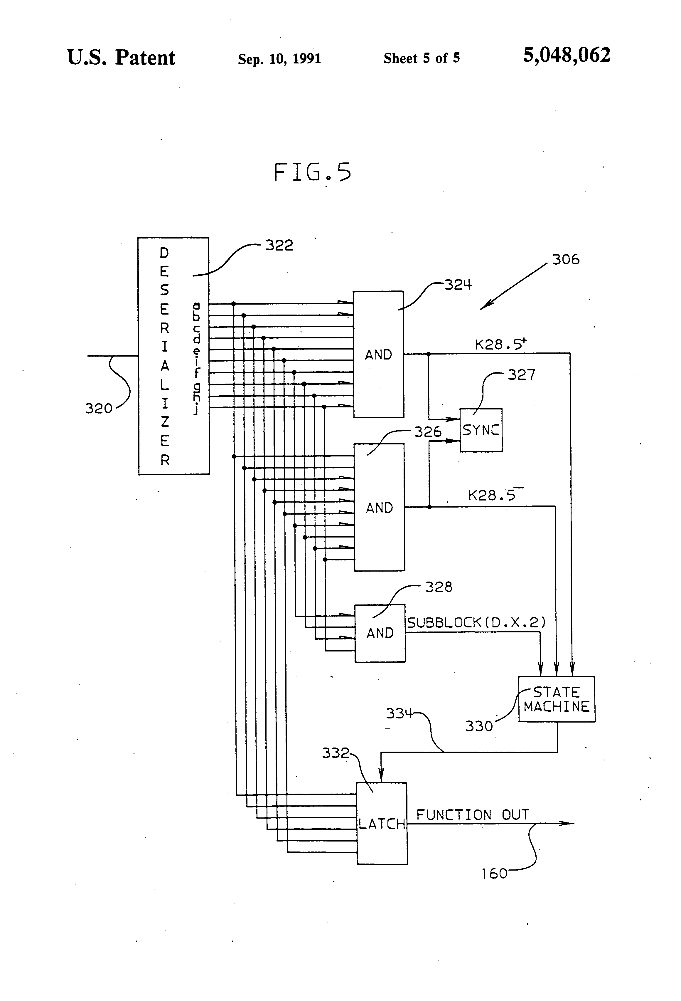 Us5048062 Transmitting Commands Over A Serial Link How To Draw State Machine Diagram Patent Drawing