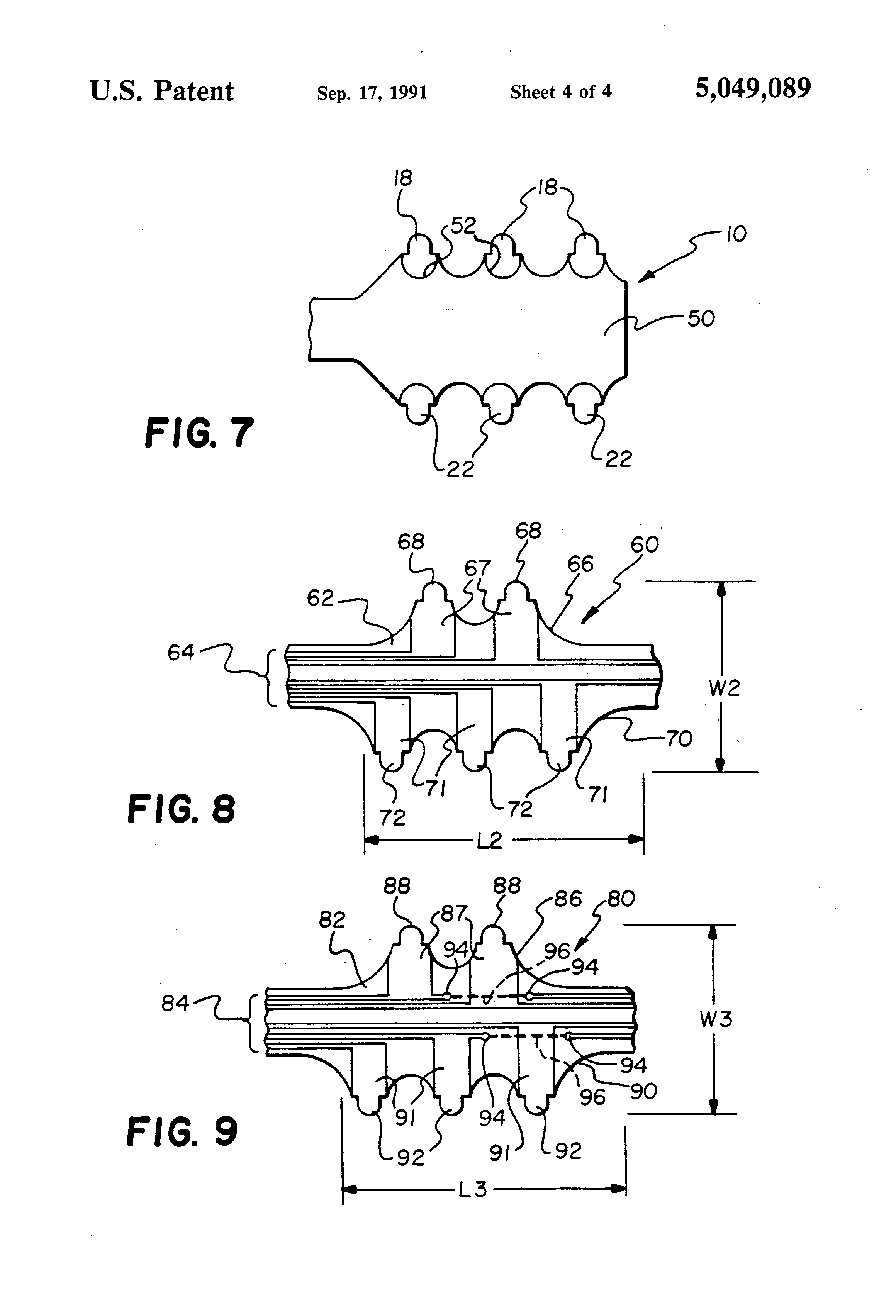 patent us5049089 - low cost arch connector