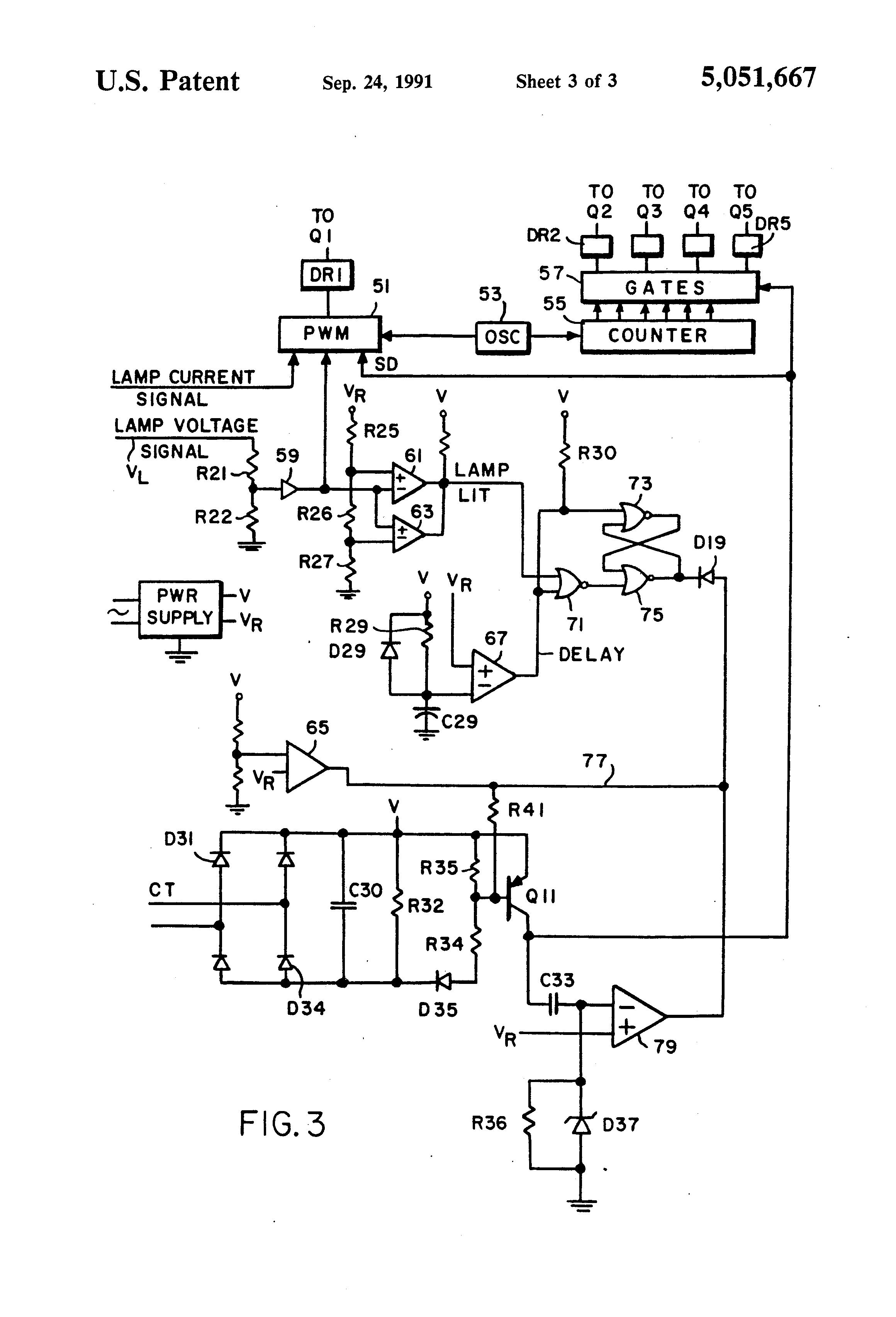 patent us5051667 - arc interrupting lamp ballast
