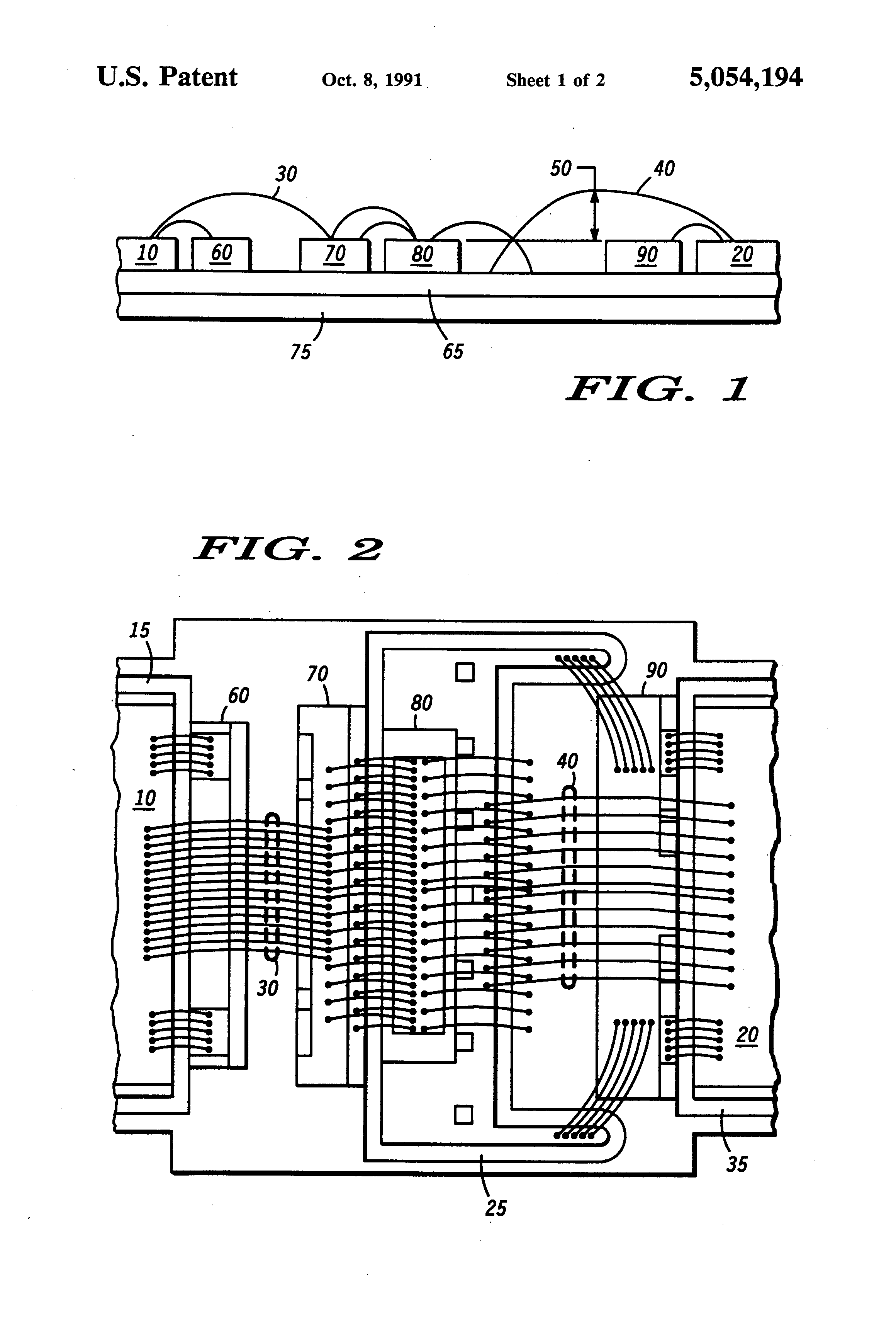 Patent US5054194 - Method for controlling bonding wire loop weight ...