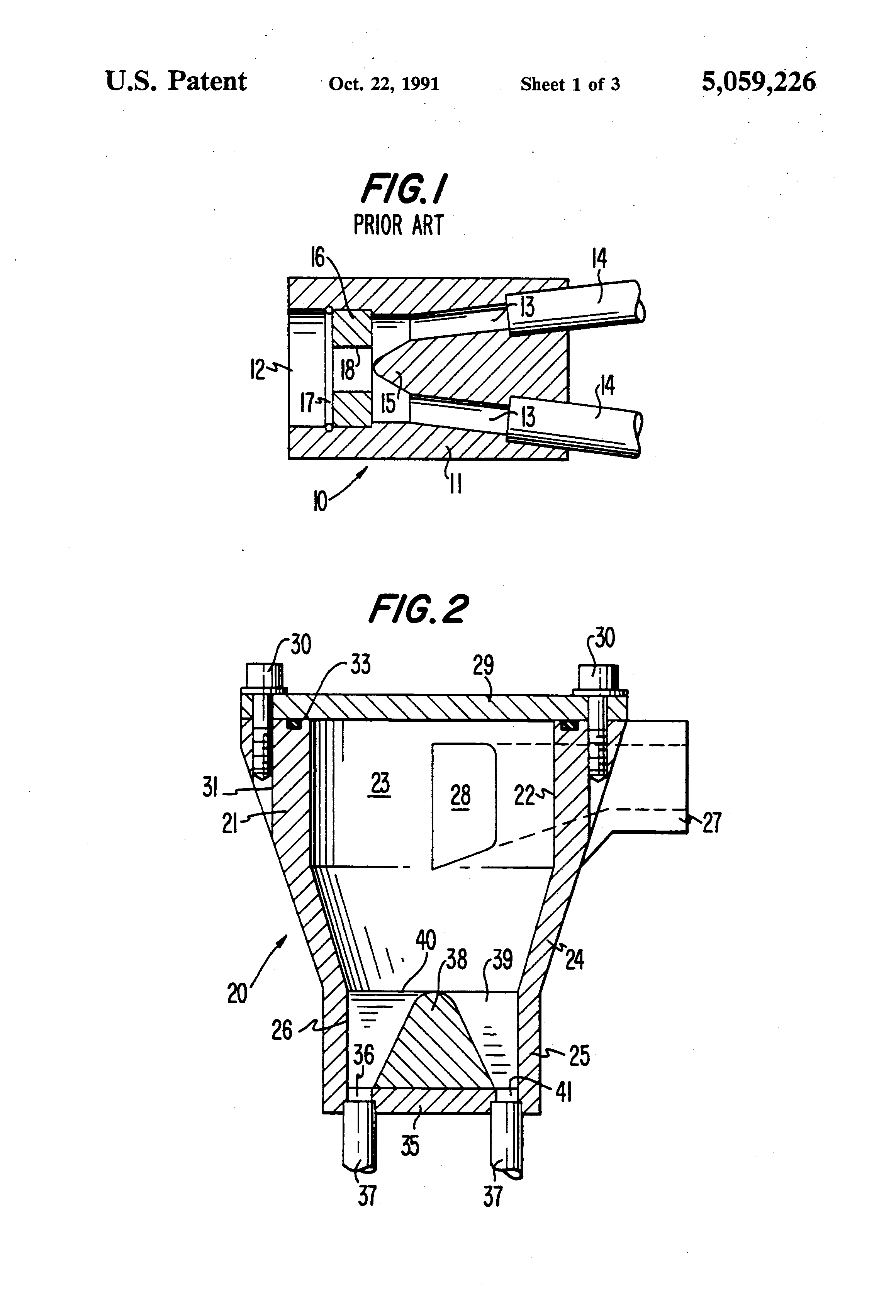 Patent US Centrifugal two phase flow distributor Google