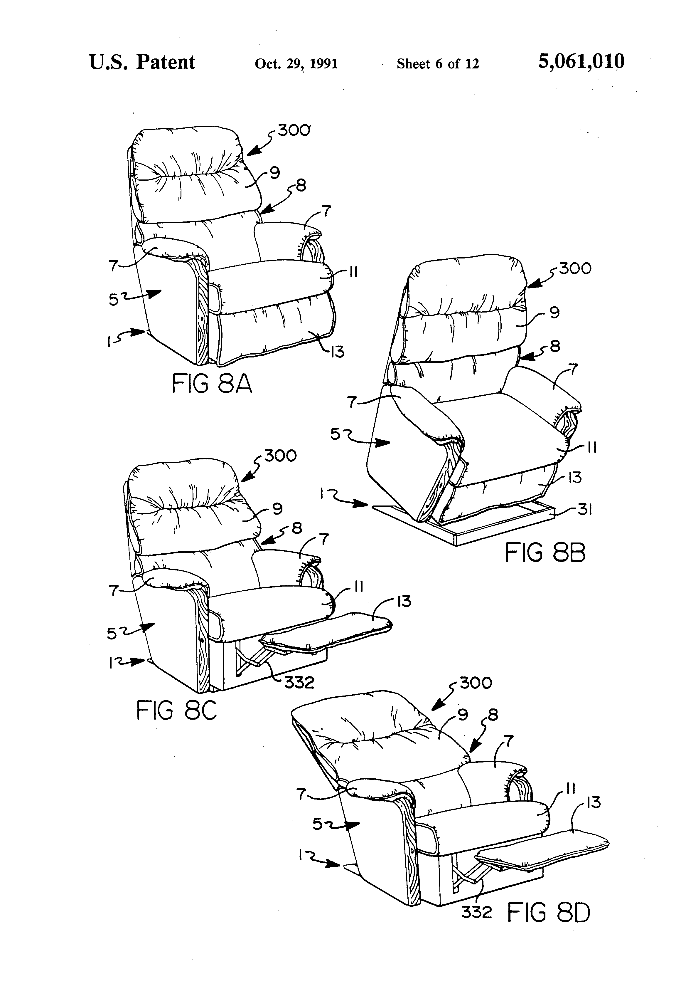 patent us5061010 - cam guide drive mechanism for power-assisted chairs and the like