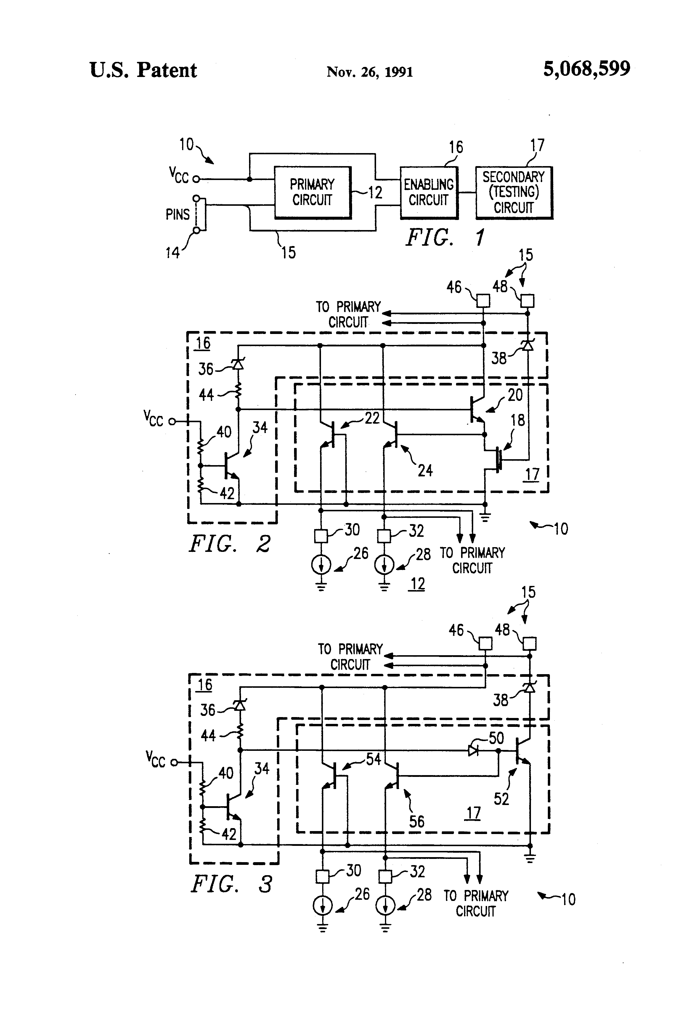 Patent Us5068599 Integrated Circuit Having An Enabling For What Is 18 Drawing