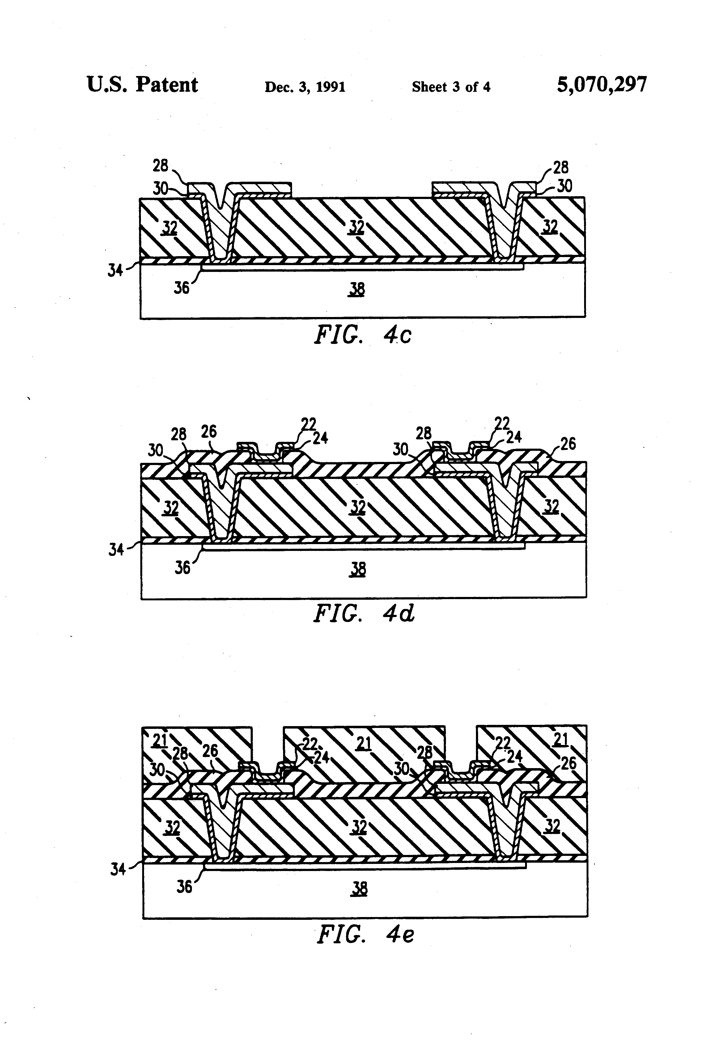 patent us5070297 - full wafer integrated circuit testing device