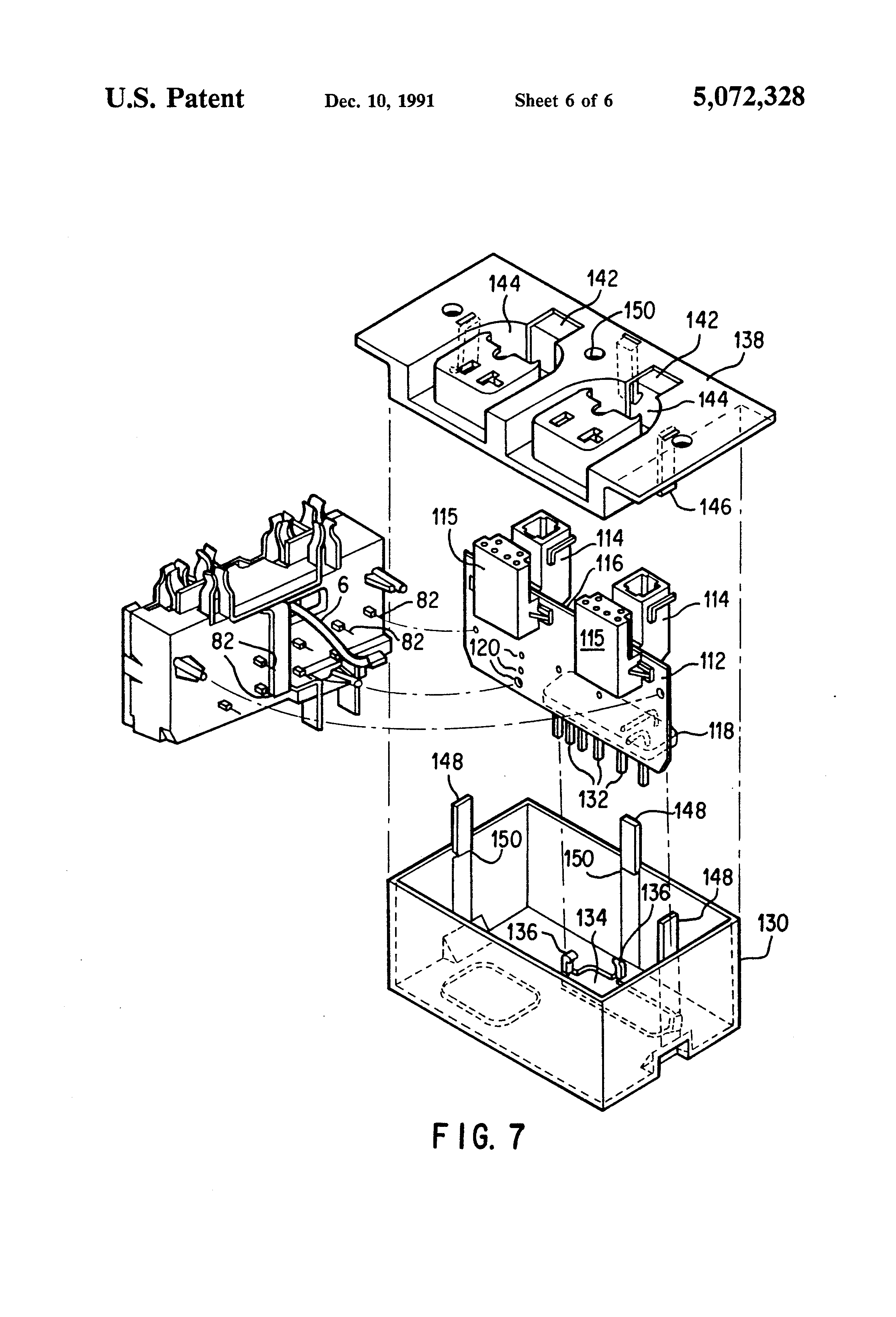 patent us5072328 power control relay for electrical outlets which Opto Triac Circuit patent drawing